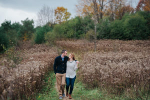 fall engagement session durham