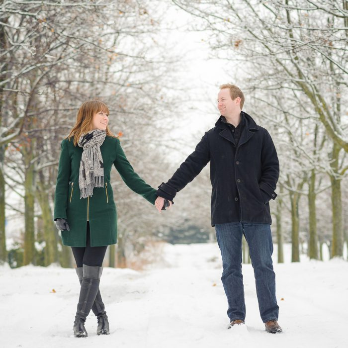 Catherine + Daniel Winter Engagement | Durham Region Photographer