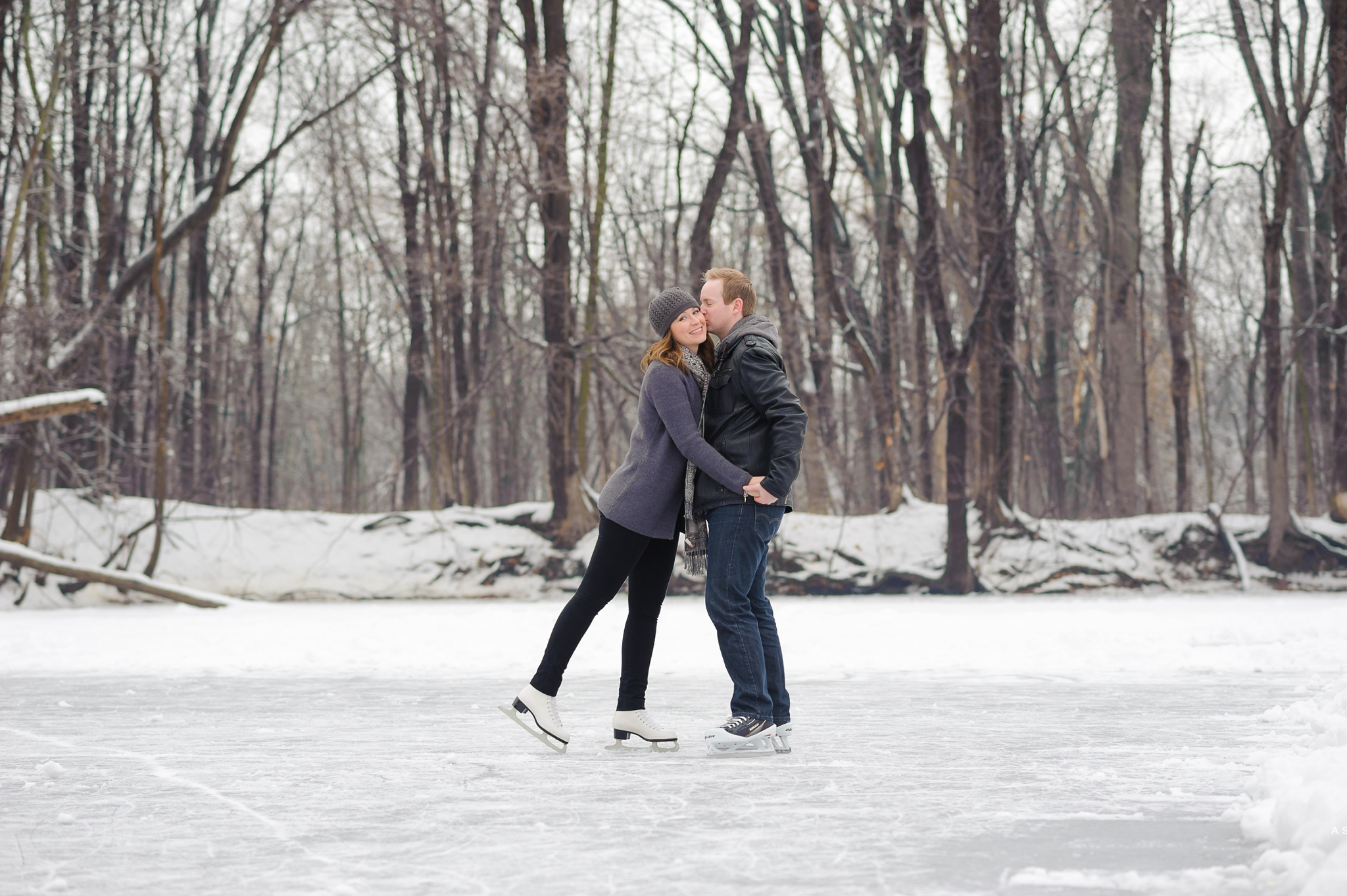 Durham Region Winter Engagement ice skating