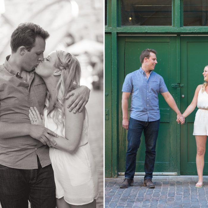 Meredith & Geoff   Distillery District Toronto Engagement