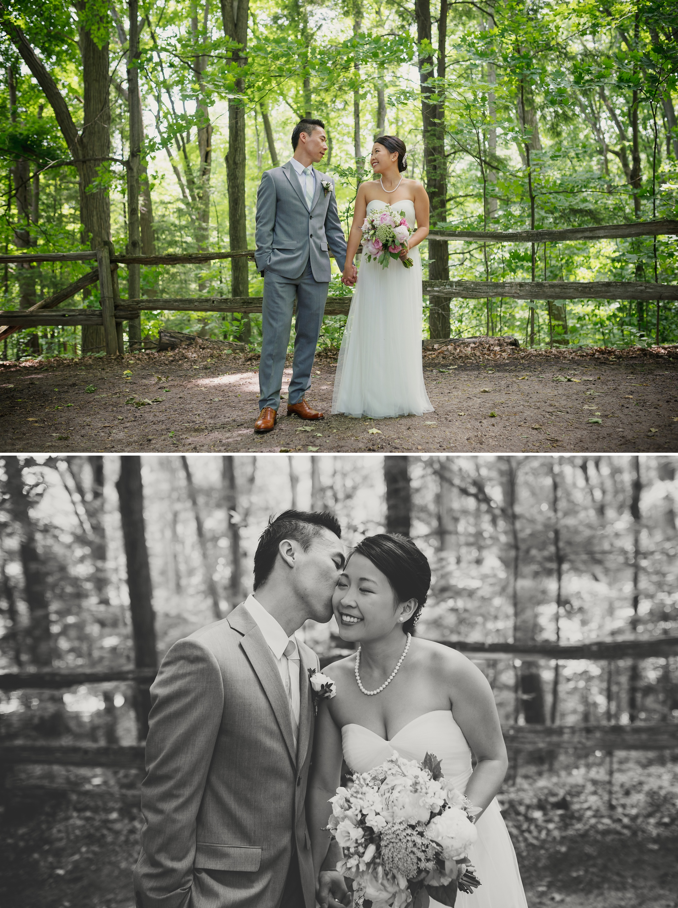 Kortright Centre Wedding Photographer - First Look Bride and Groom