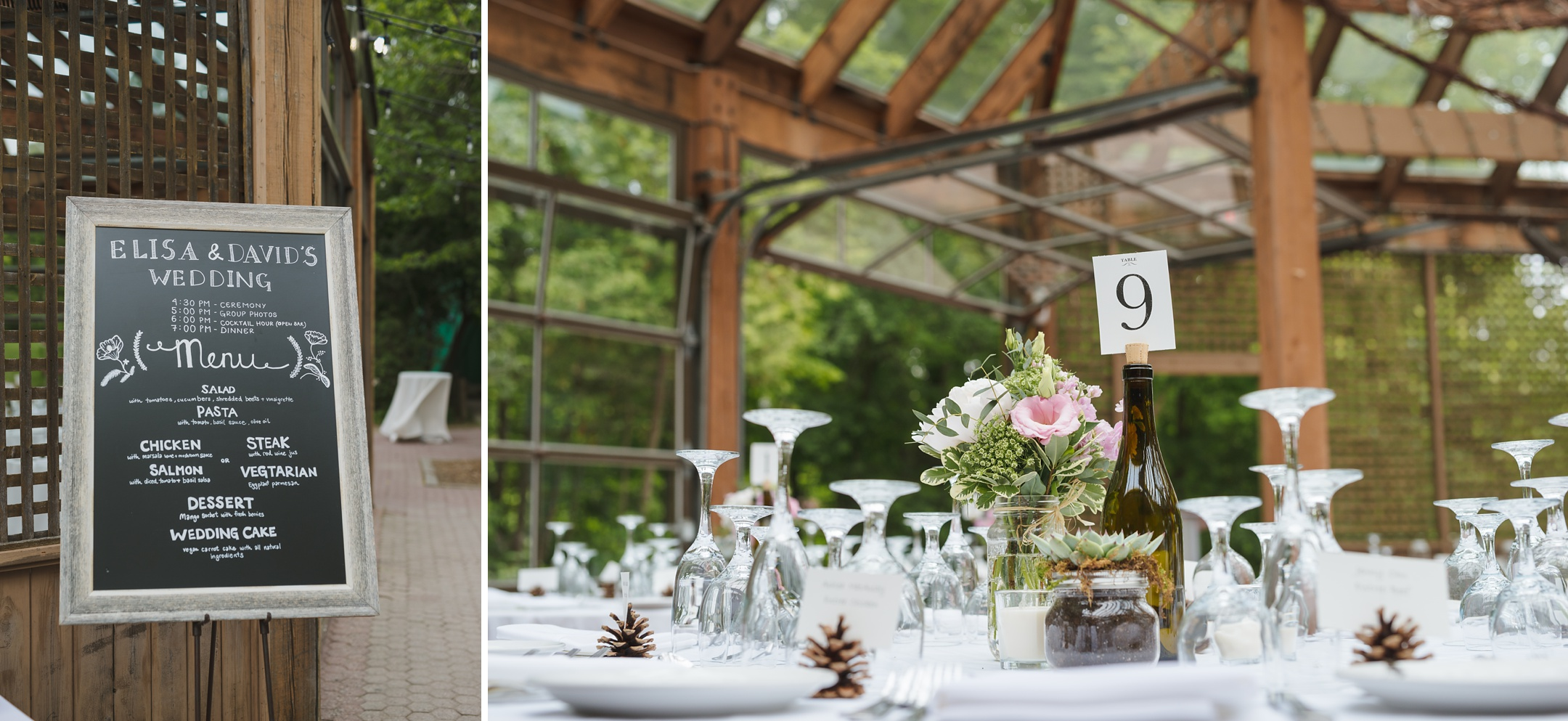 kortright centre wedding glass house reception