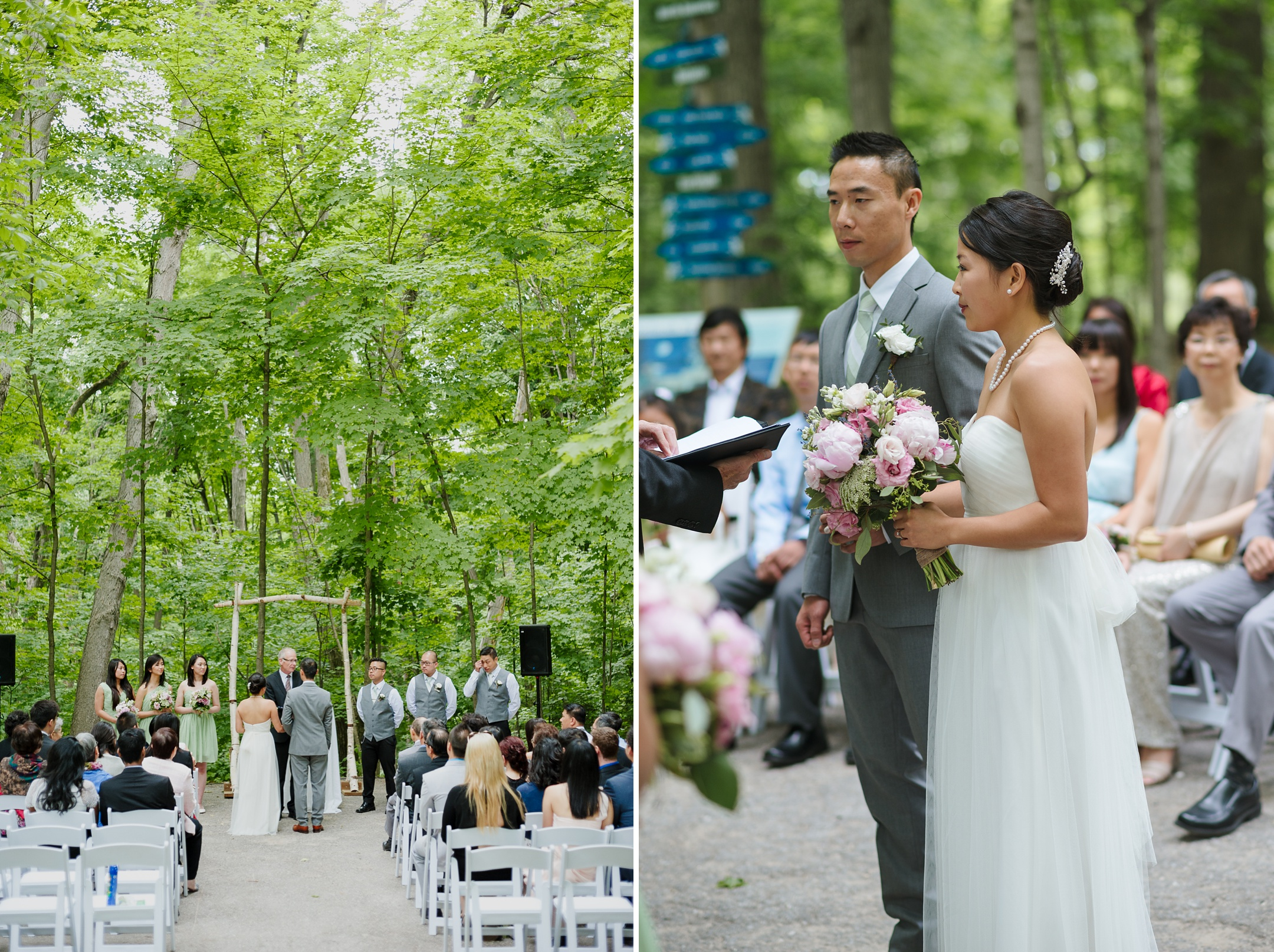 Kortright Centre Wedding Cathedral of Trees