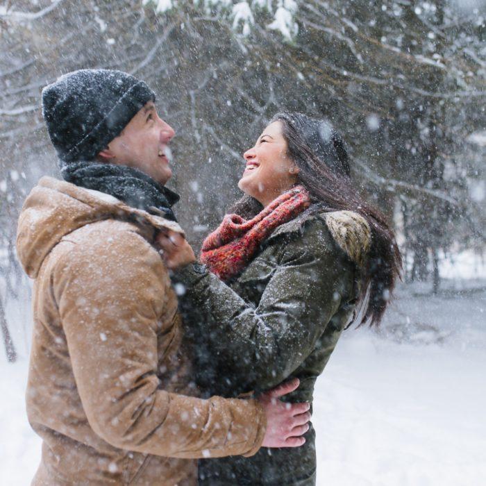 Durham Region Winter Engagement | Vanessa & Mike