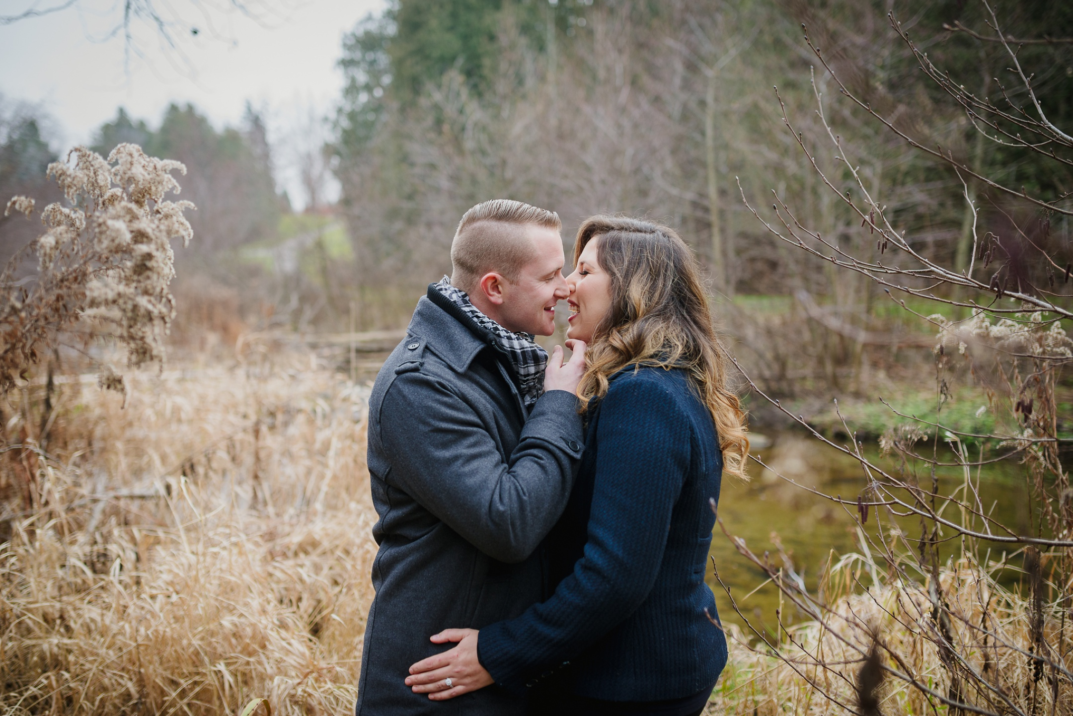 Durham Region Engagement Photography in the woods