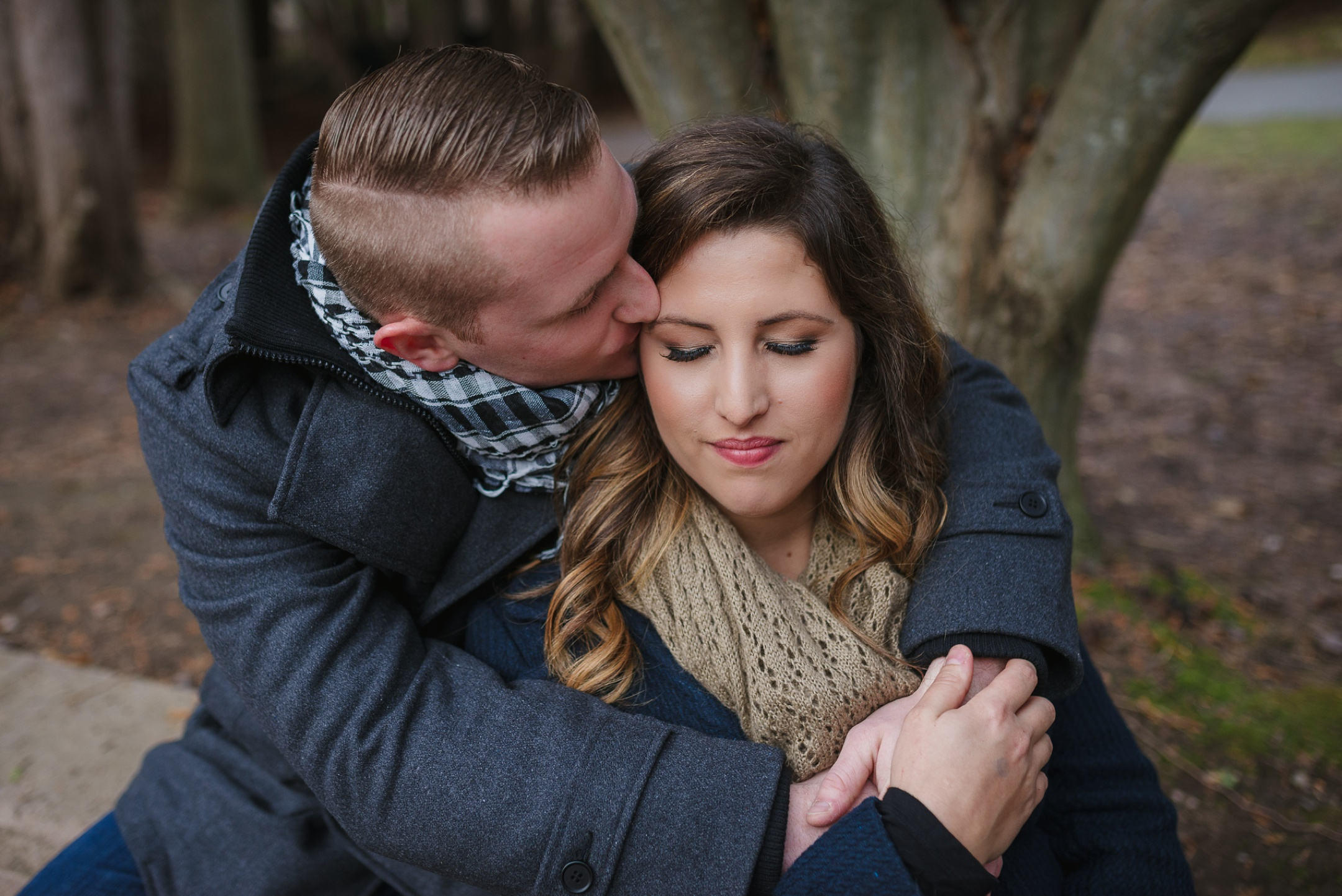 Whitby Engagement Session in the woods