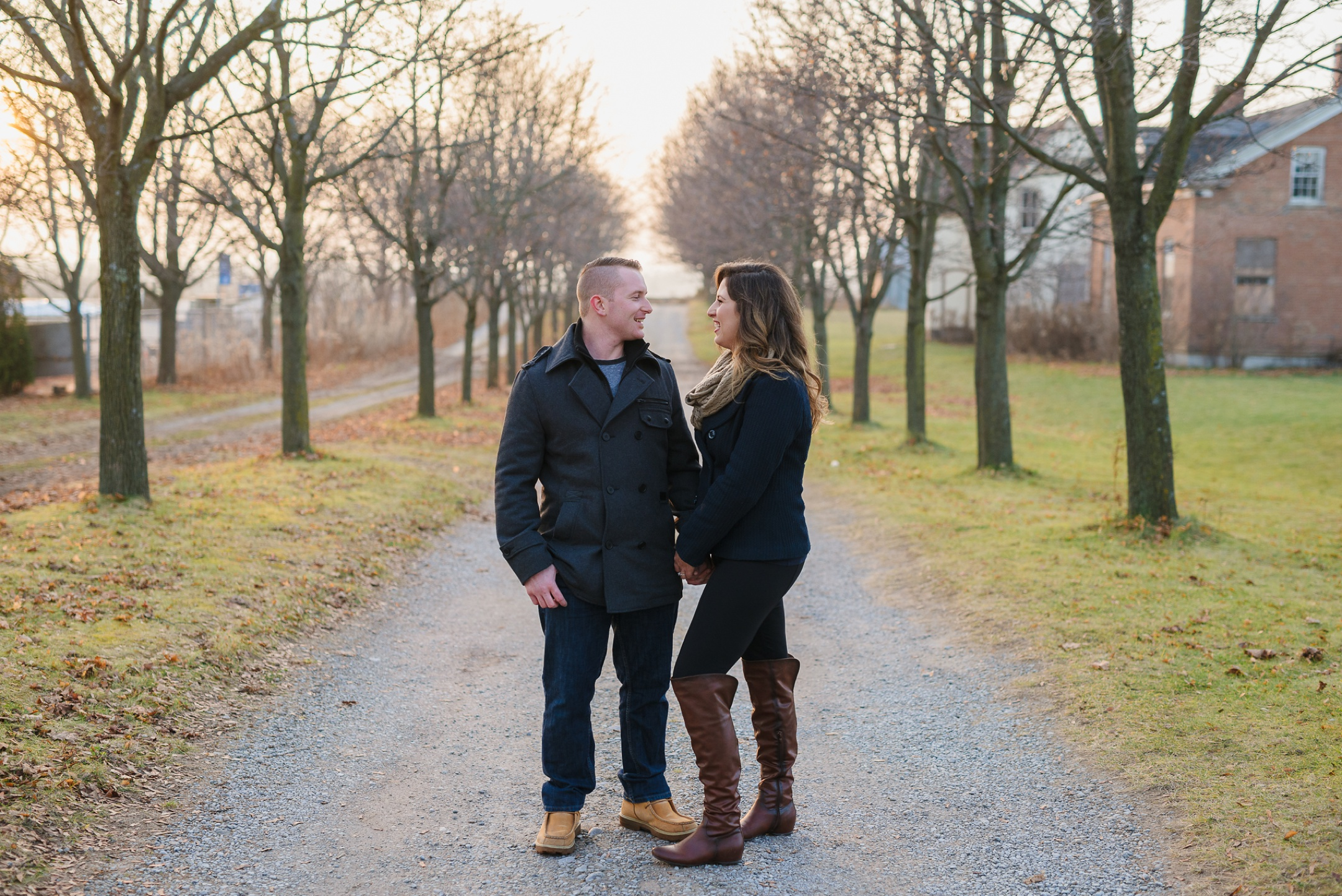 Durham Region, Whitby Engagement Session, cute couple at sunset