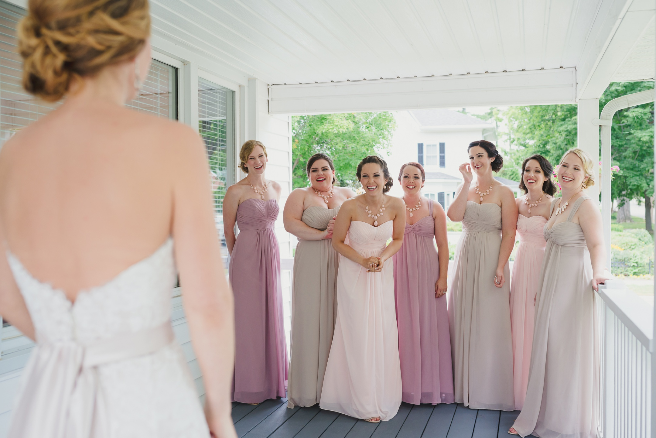 Cobourg Ontario yard wedding