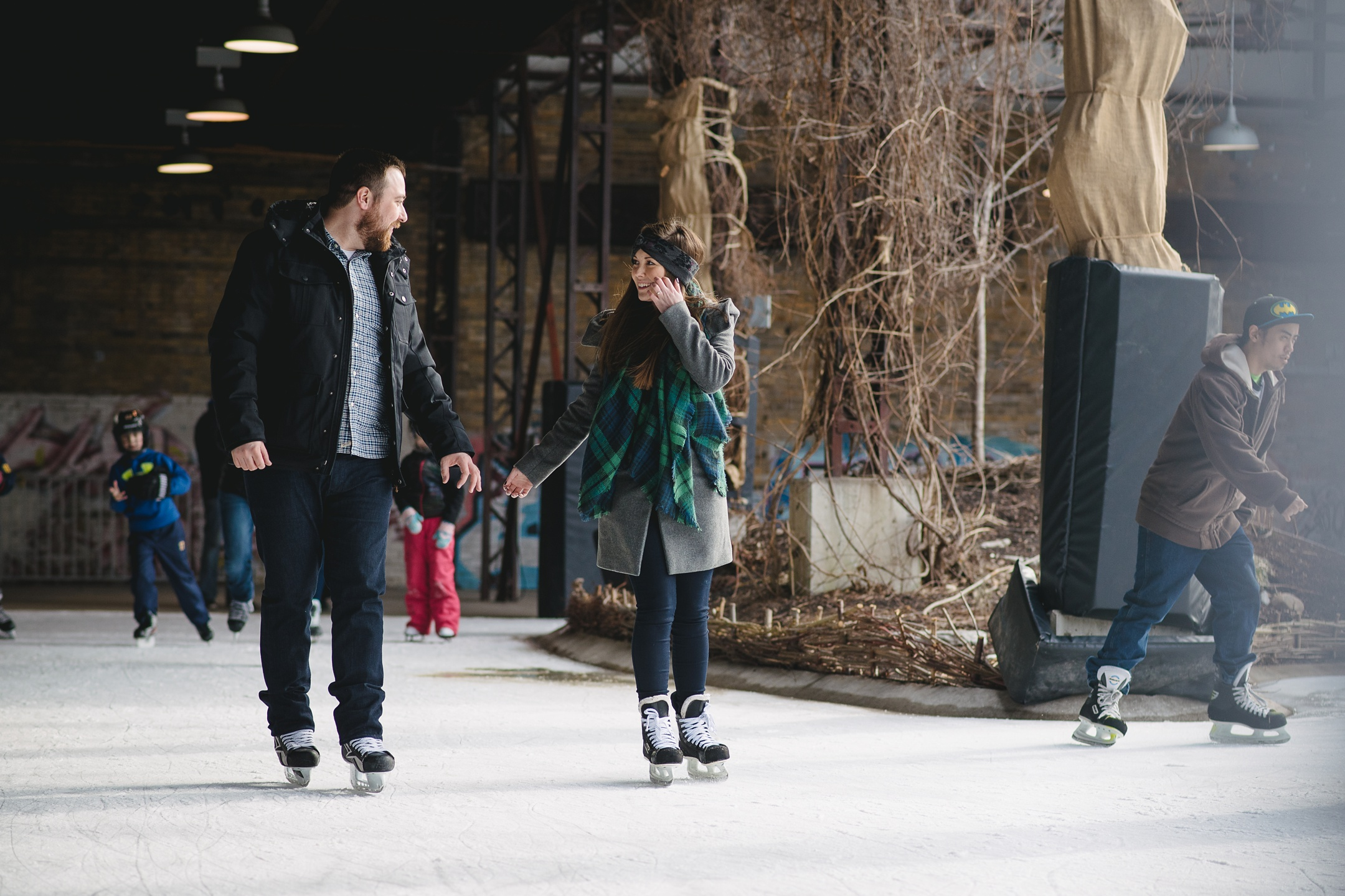 Ice skating engagement toronto