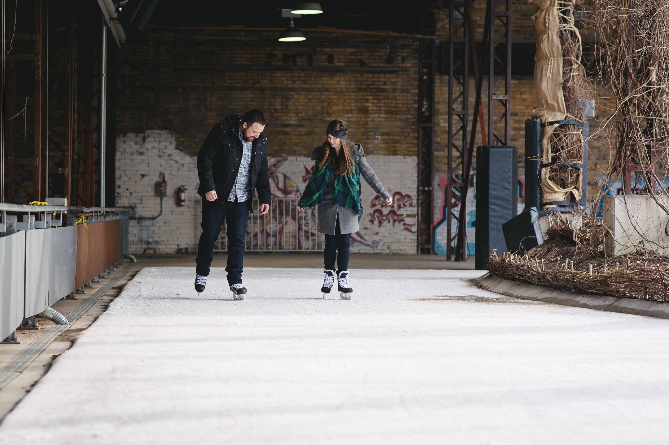 Ice skating engagement toronto