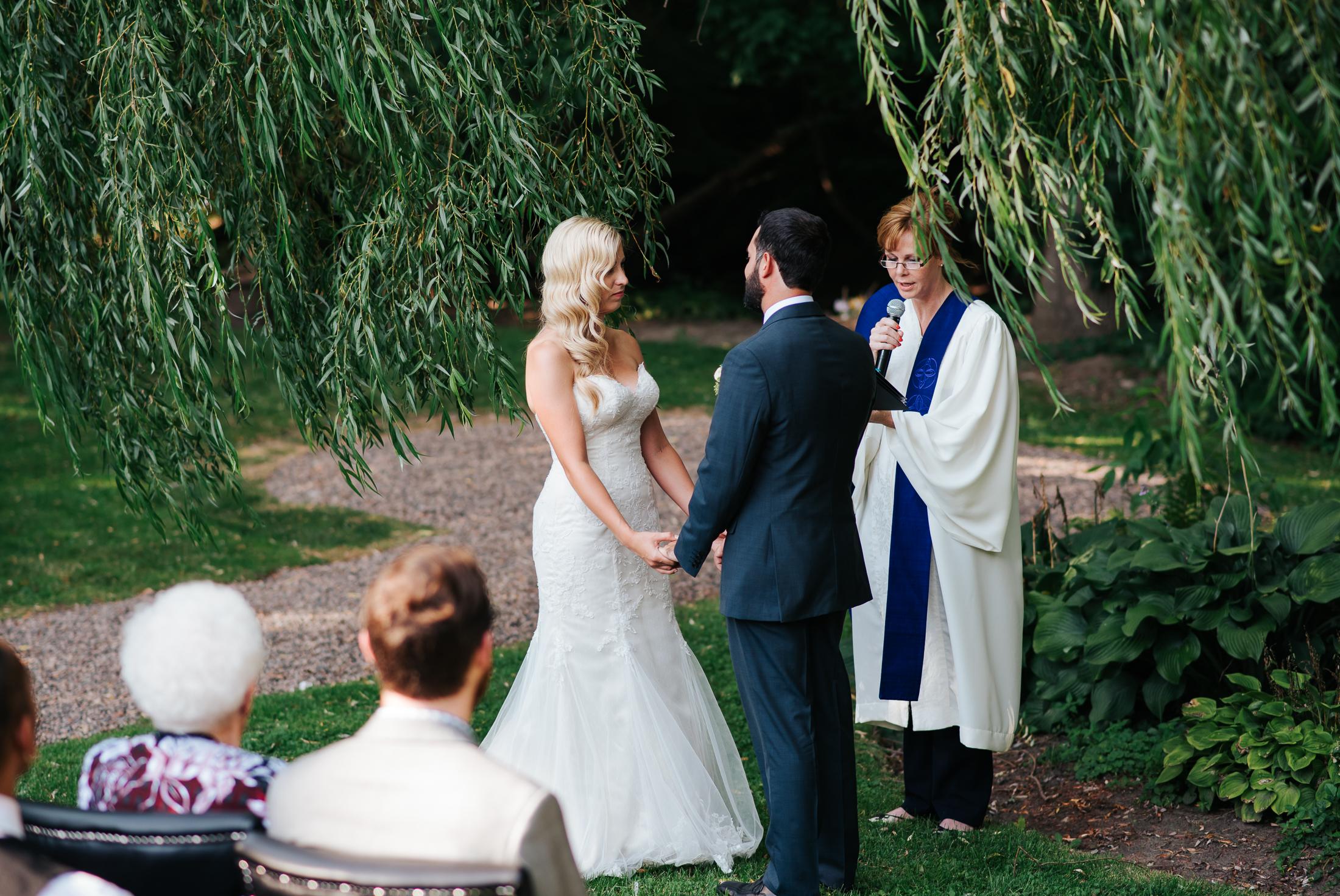 Wedding Ceremony at Harvest Restaurant, Brooklin Ontario