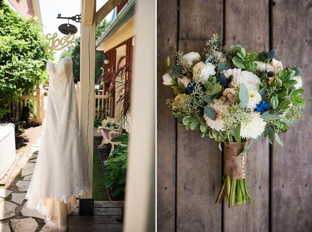 Brooklin wedding prep details