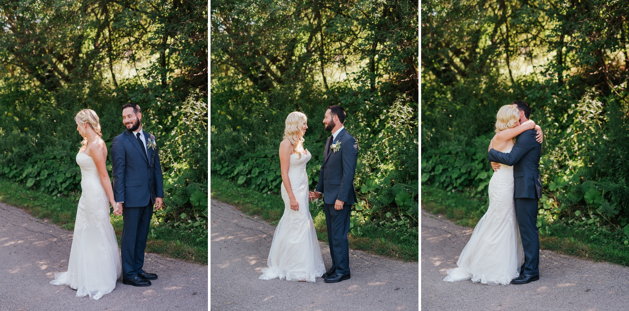 whitby wedding first look