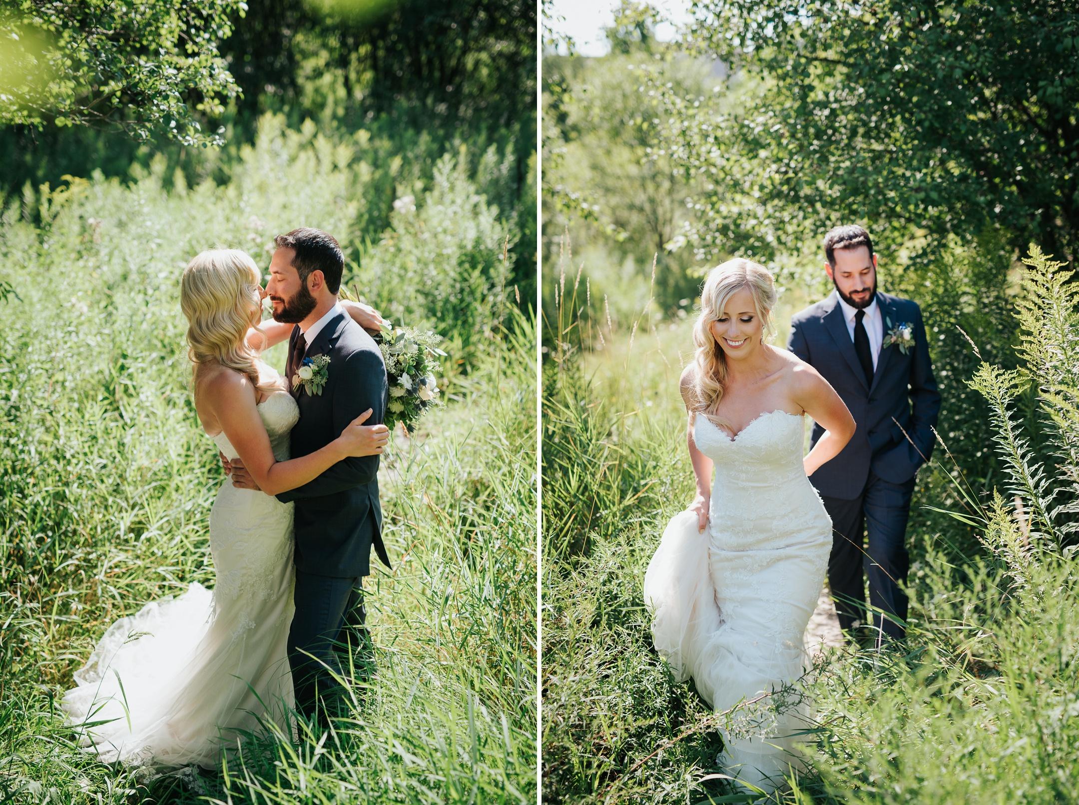 harvest restaurant brooklin wedding bride and groom
