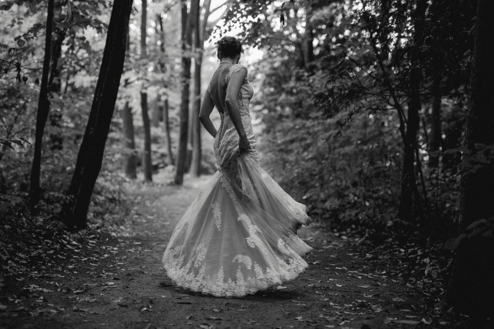 Bride at Hockley Valley Resort Wedding