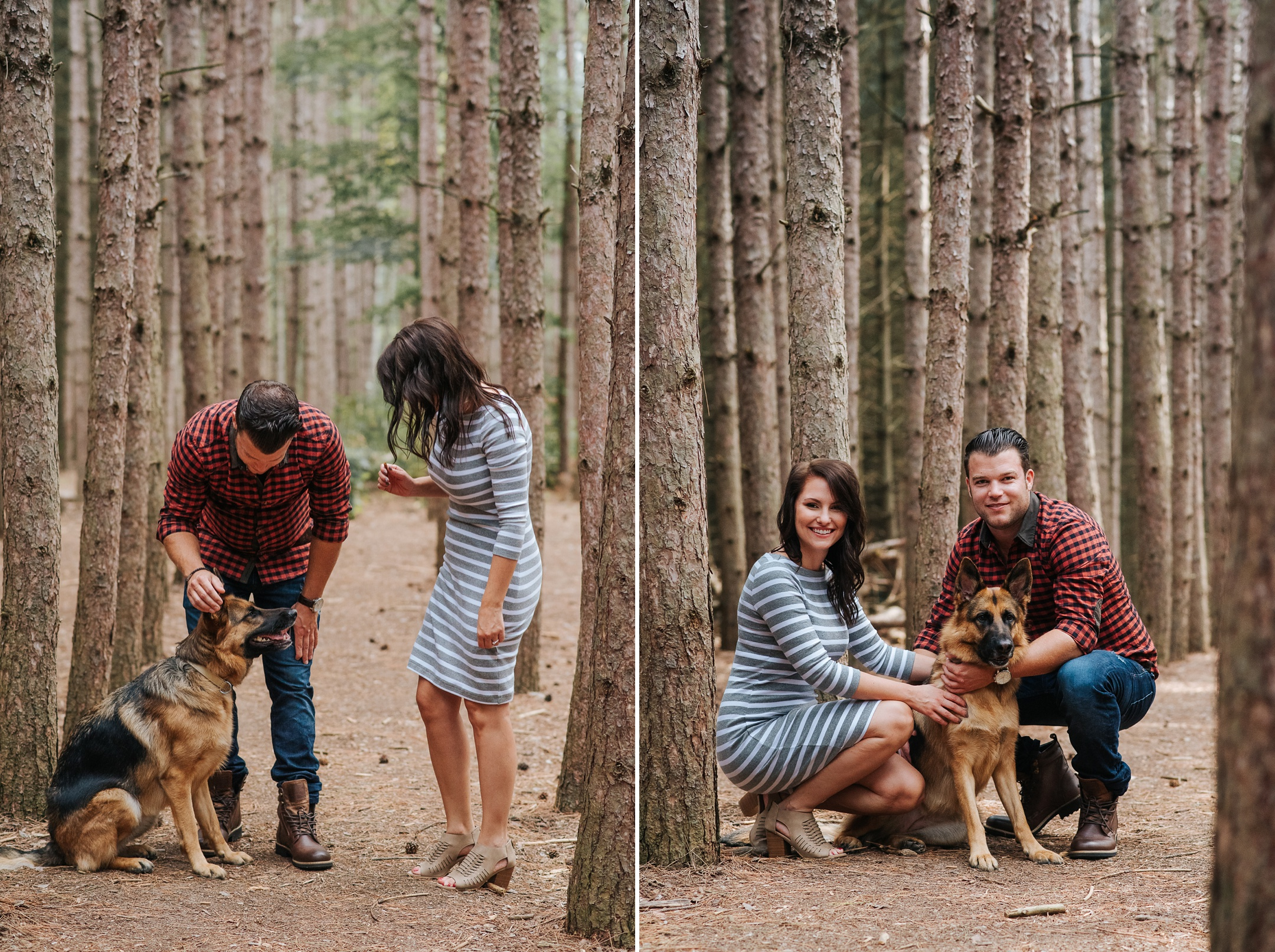 enagement photos with dog