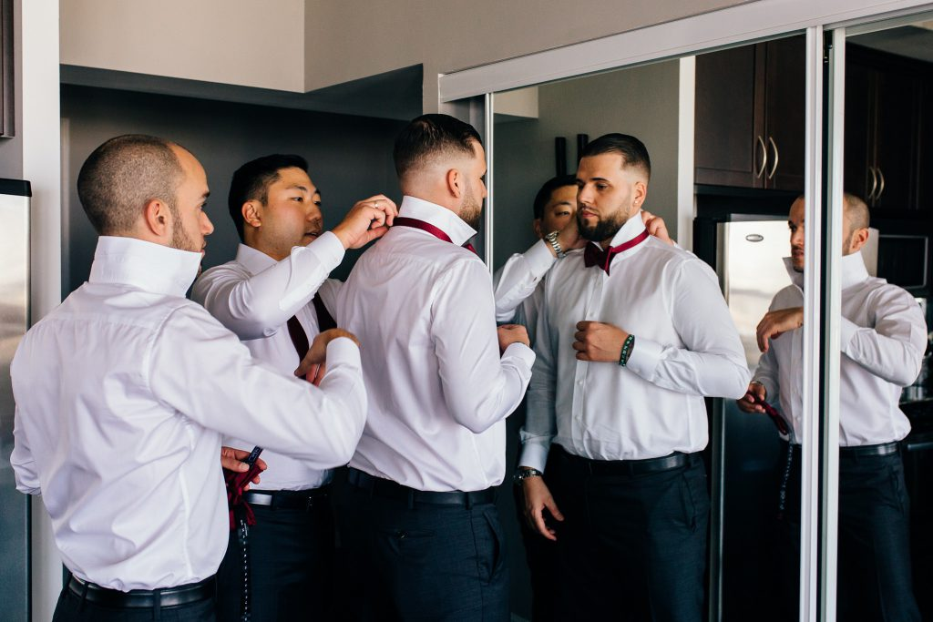 university club of toronto wedding groom getting ready
