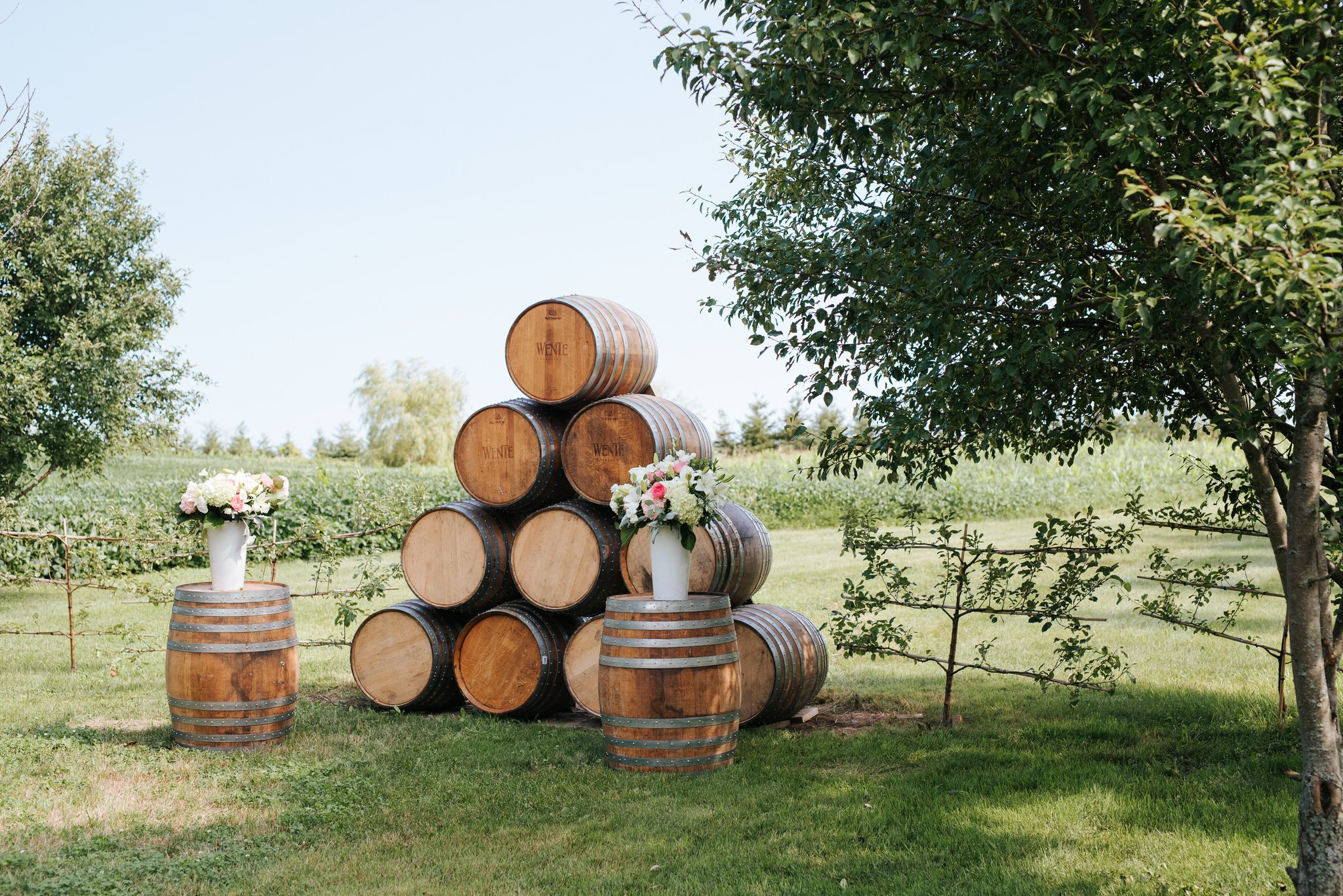 Bloomfield Gardens Wedding - barrel alter