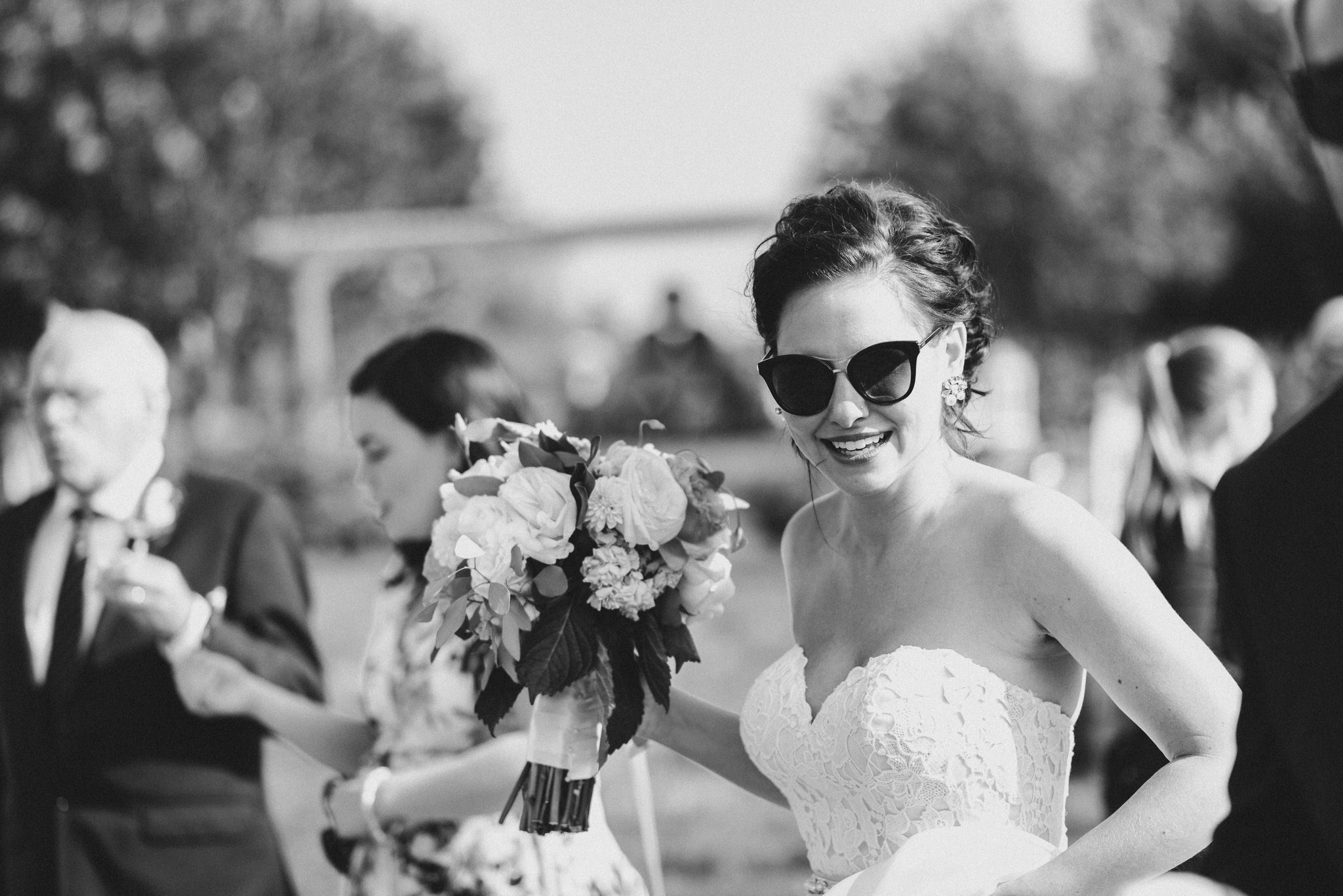 Bloomfield Gardens Wedding - bride with sunglasses