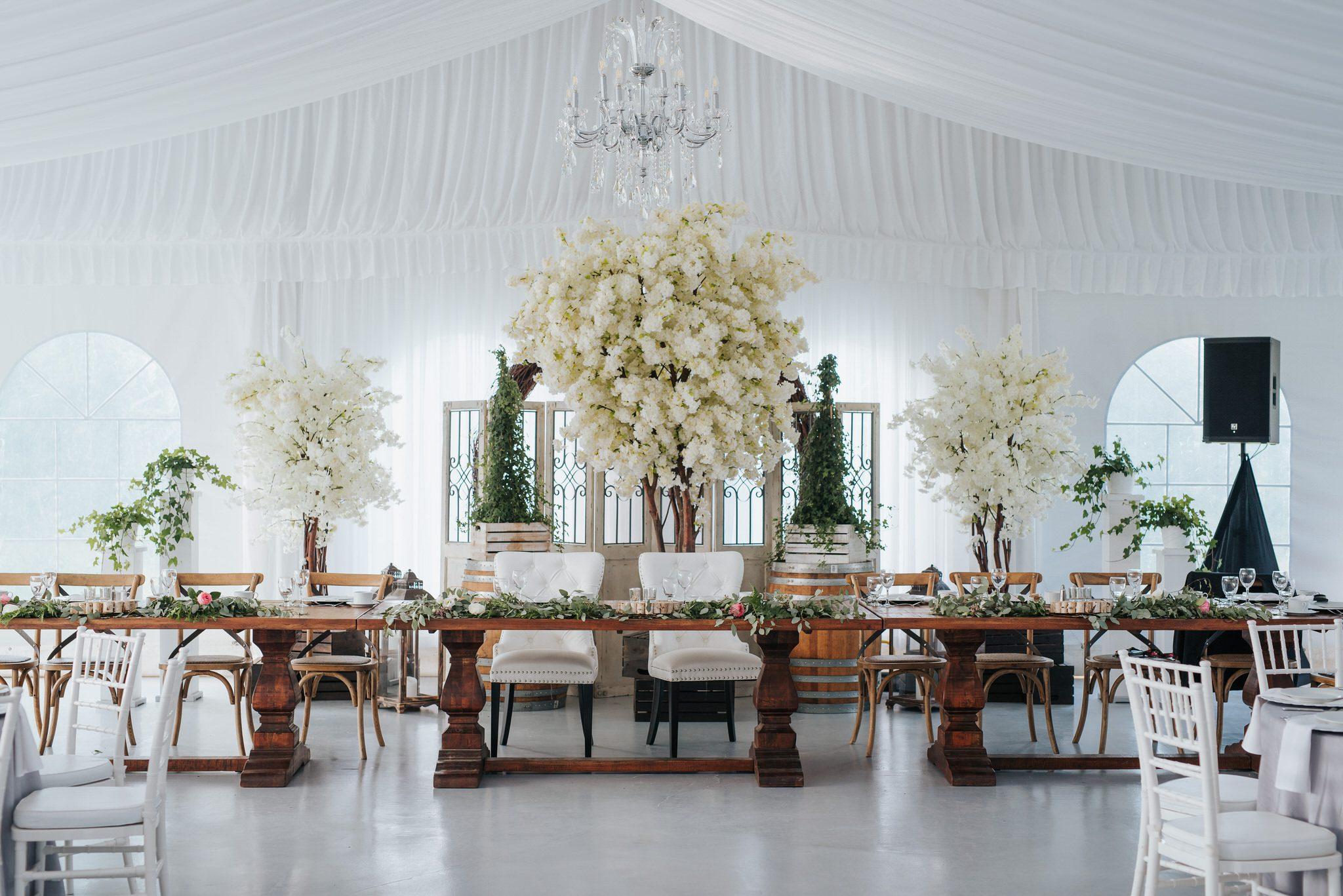 Bloomfield Gardens Wedding - reception decor