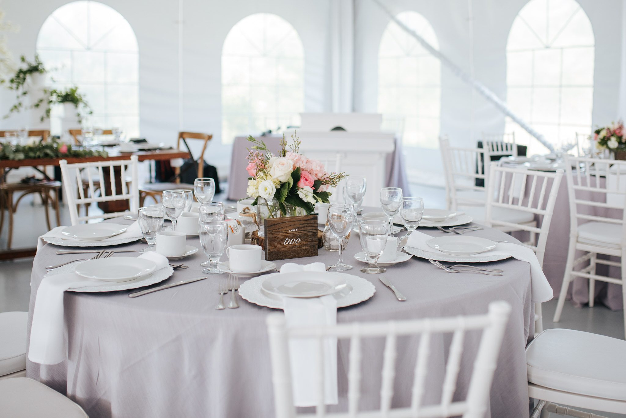 Bloomfield Gardens Wedding - dining tables