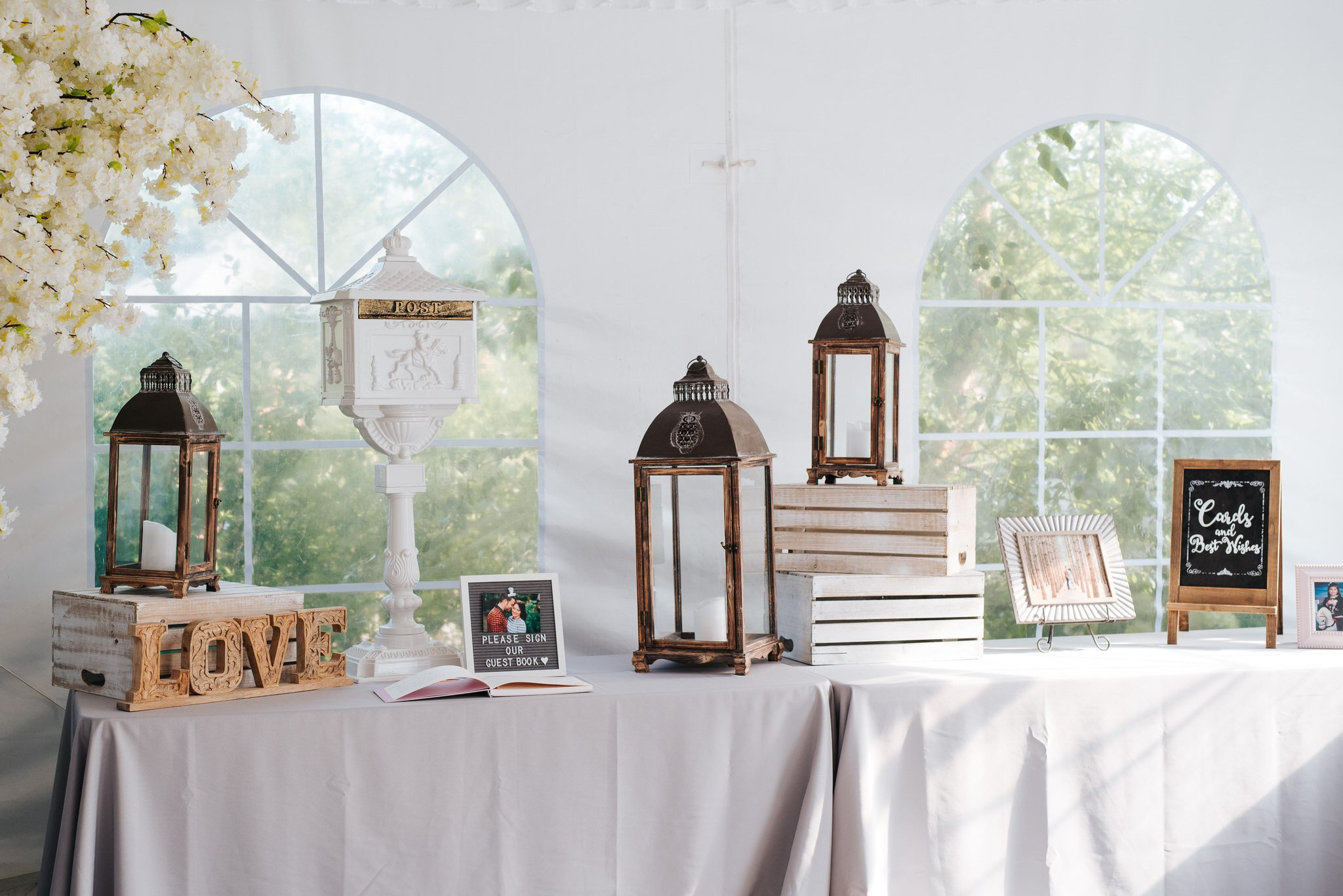 Bloomfield Gardens Wedding - table decor