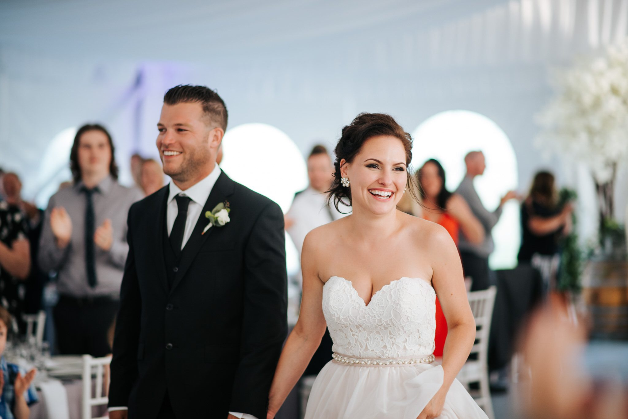 Bloomfield Gardens Wedding - bride and groom at reception