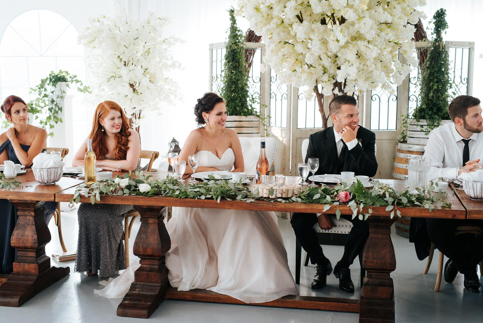 Bloomfield Gardens Wedding - bridal party at head table