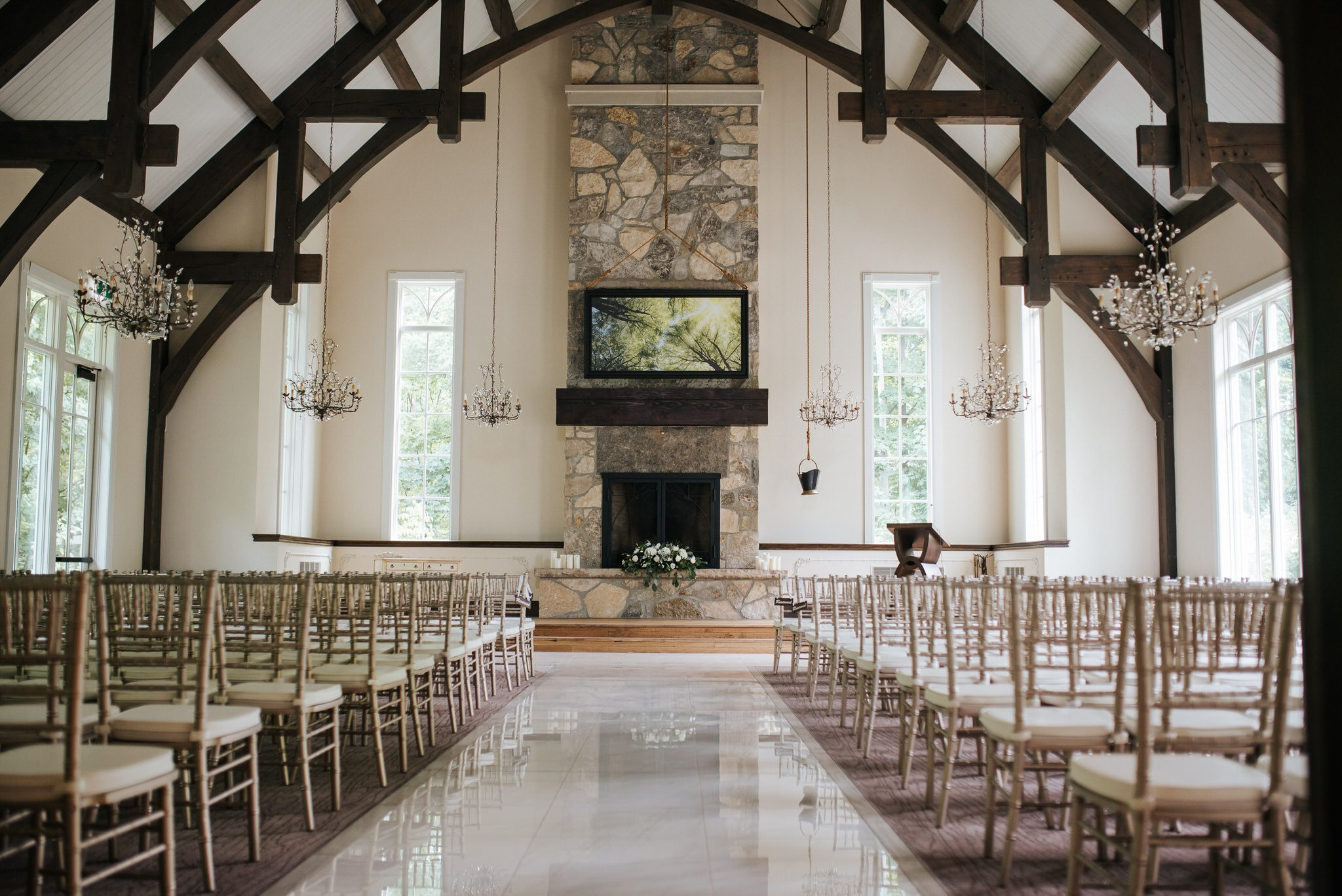 Ancaster Mill Wedding - ceremony space
