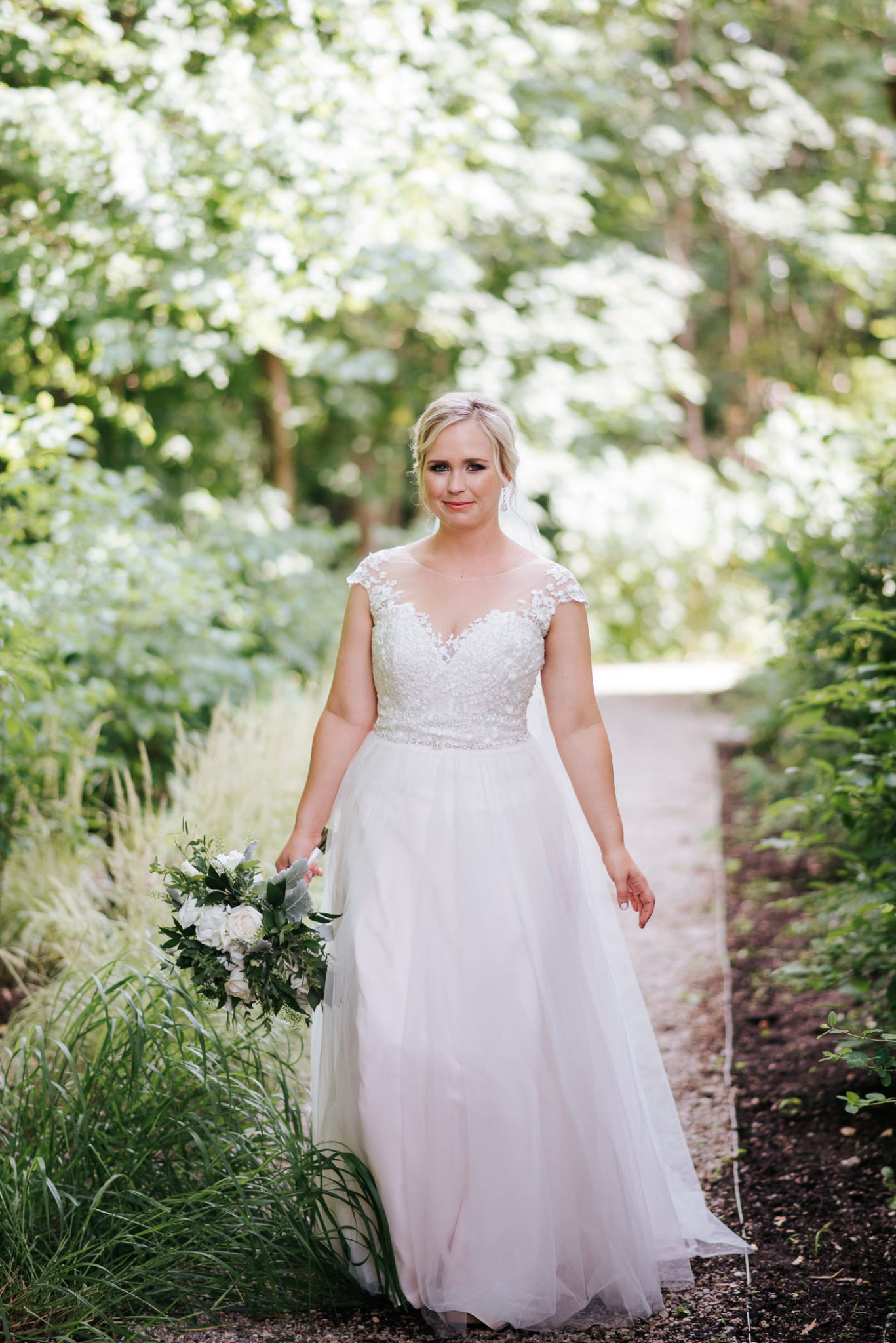 Ancaster Mill Wedding - portrait of the bride