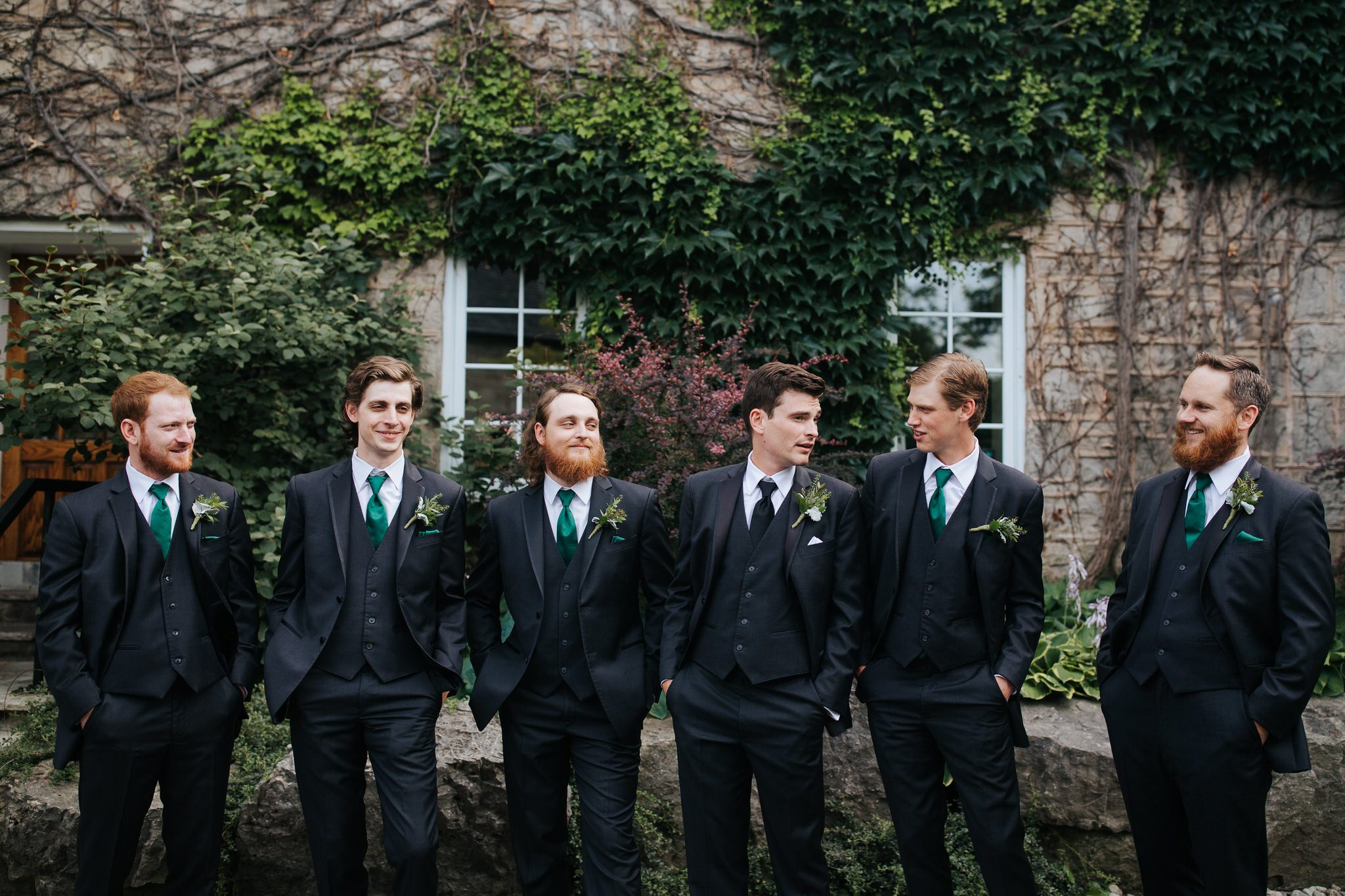 Ancaster Mill Wedding - groomsmen portrait