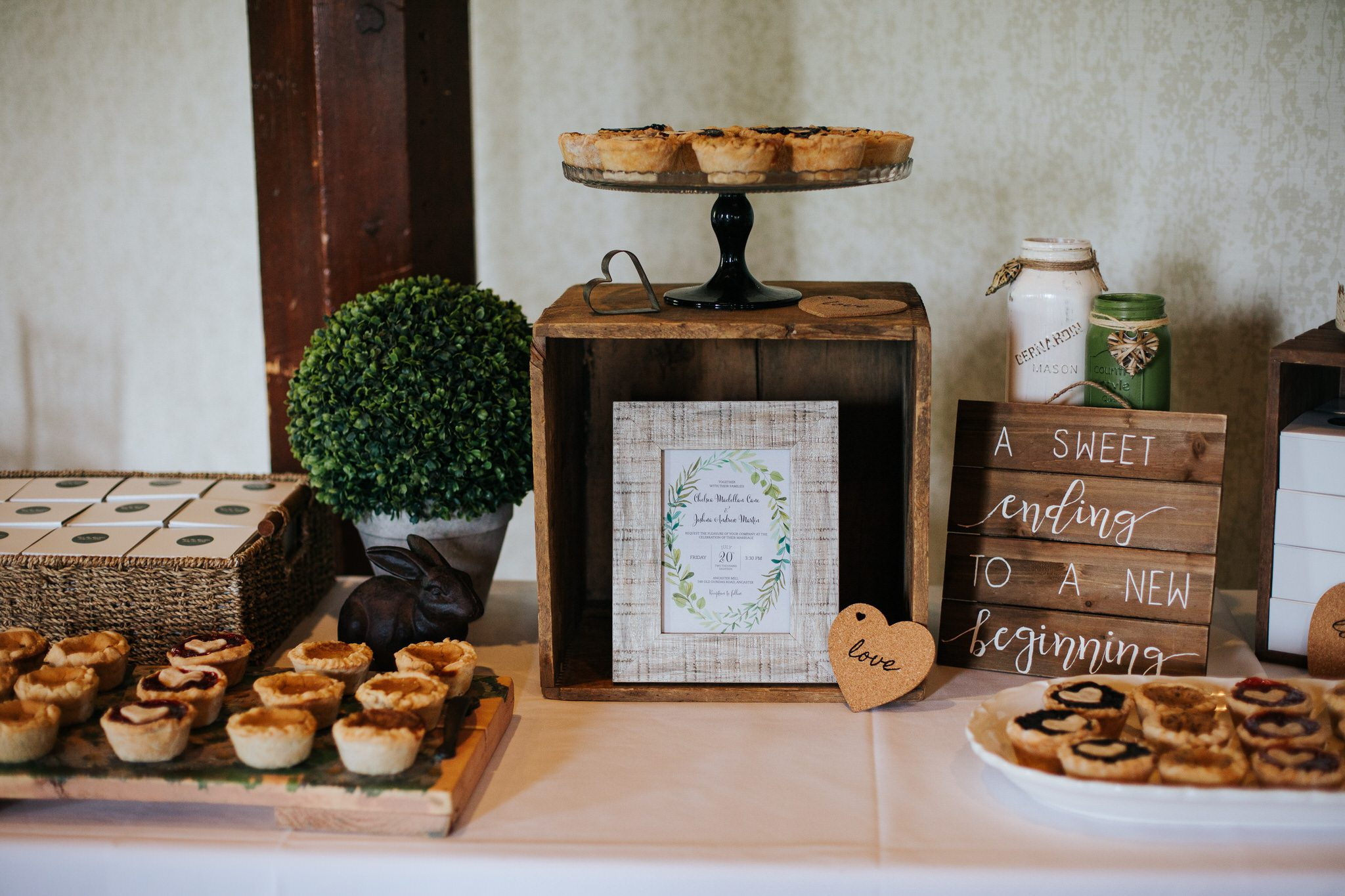 Ancaster Mill Wedding - reception treats