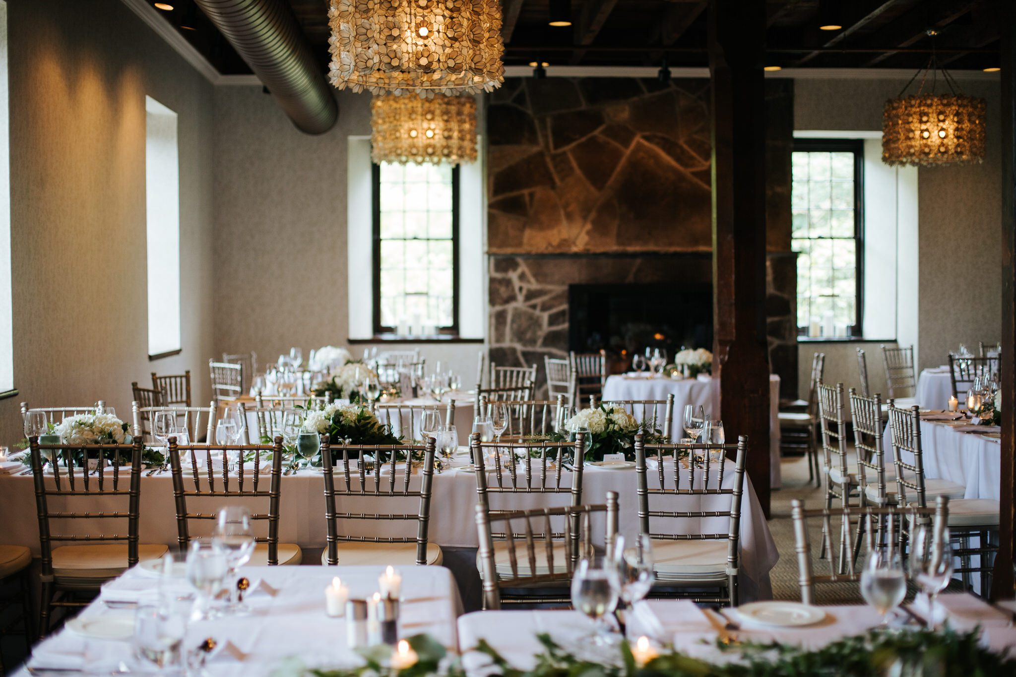 Ancaster Mill Wedding - reception decor