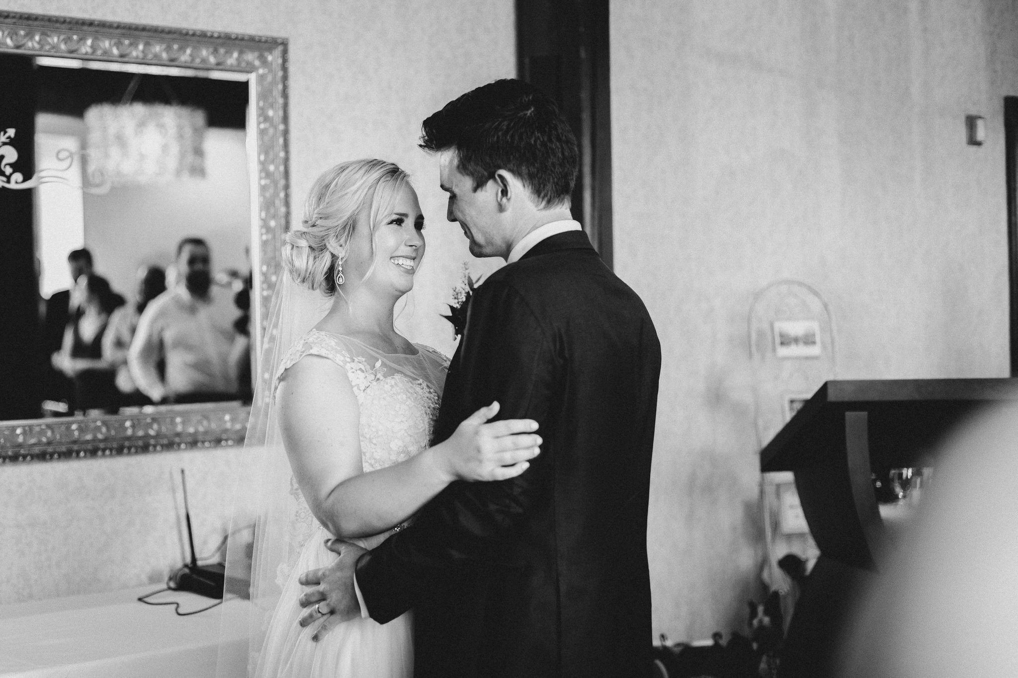 Ancaster Mill Wedding - bride and groom first dance