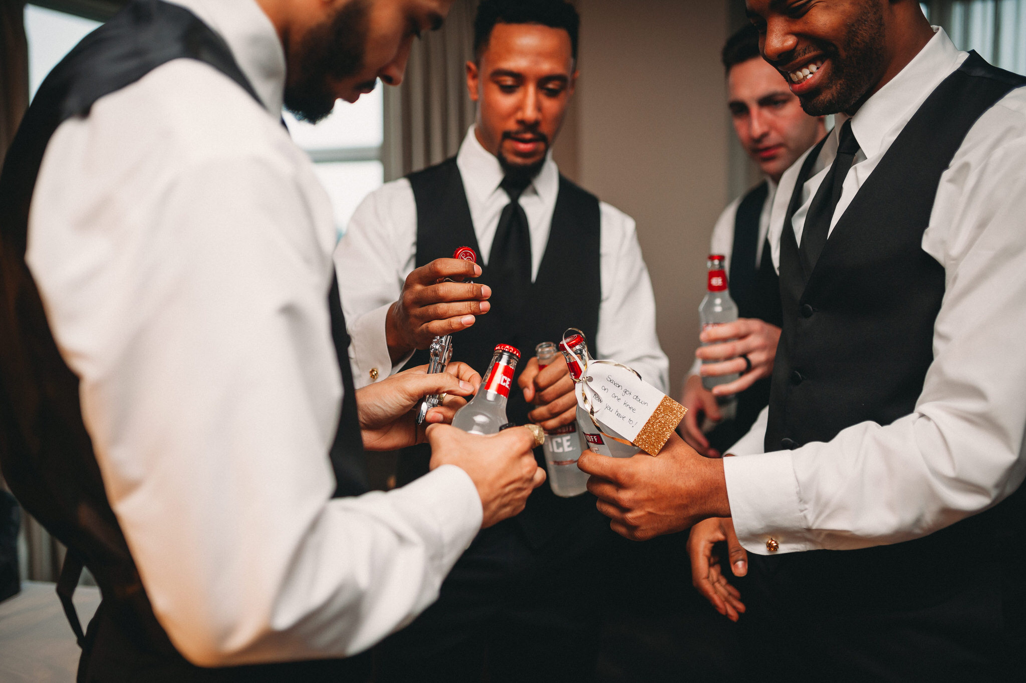 One King Toronto New Years Eve Wedding - smirnoff icing groomsmen