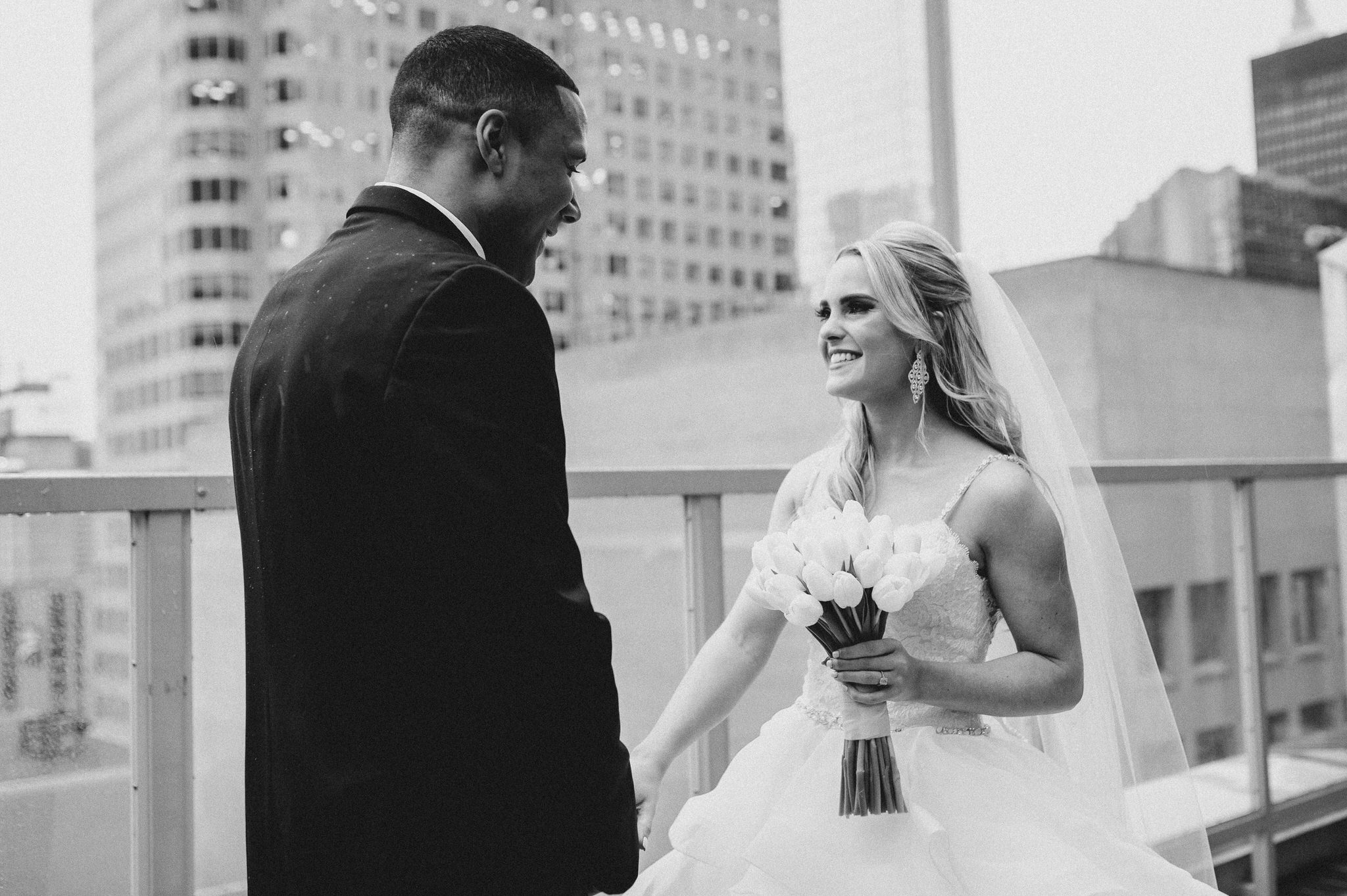 One King Toronto New Years Eve Wedding - bride and groom first look