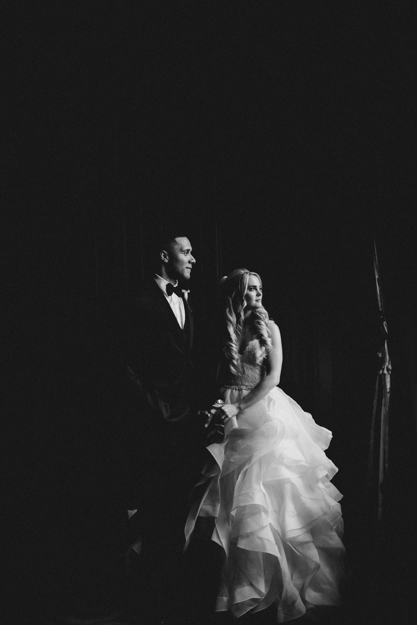One King Toronto New Years Eve Wedding - black and white portrait