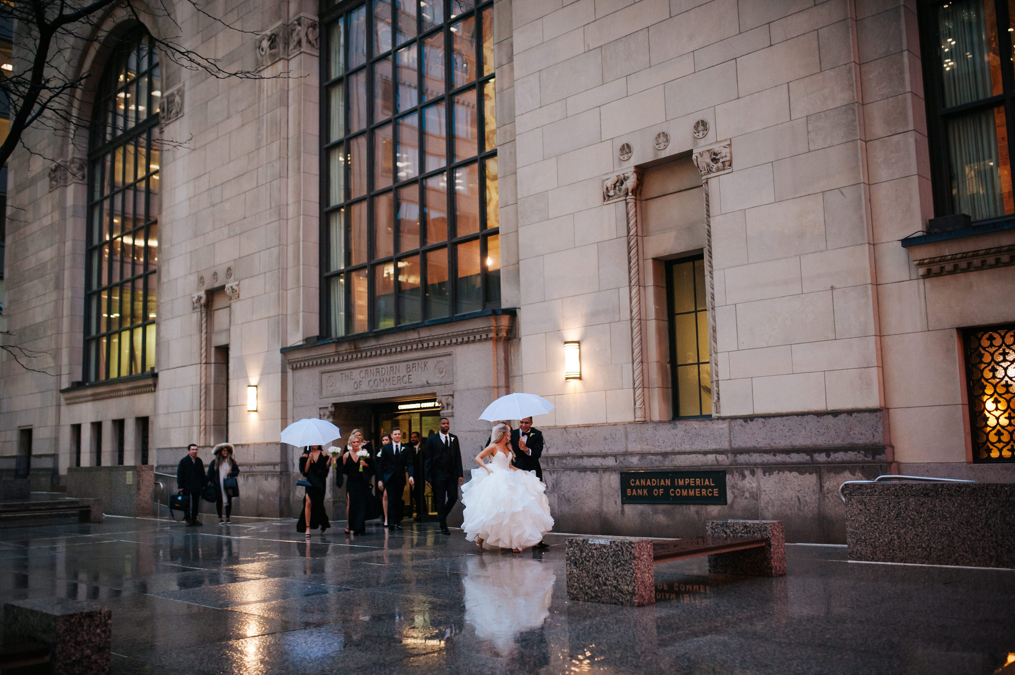 One King Toronto New Years Eve Wedding - rainy wedding