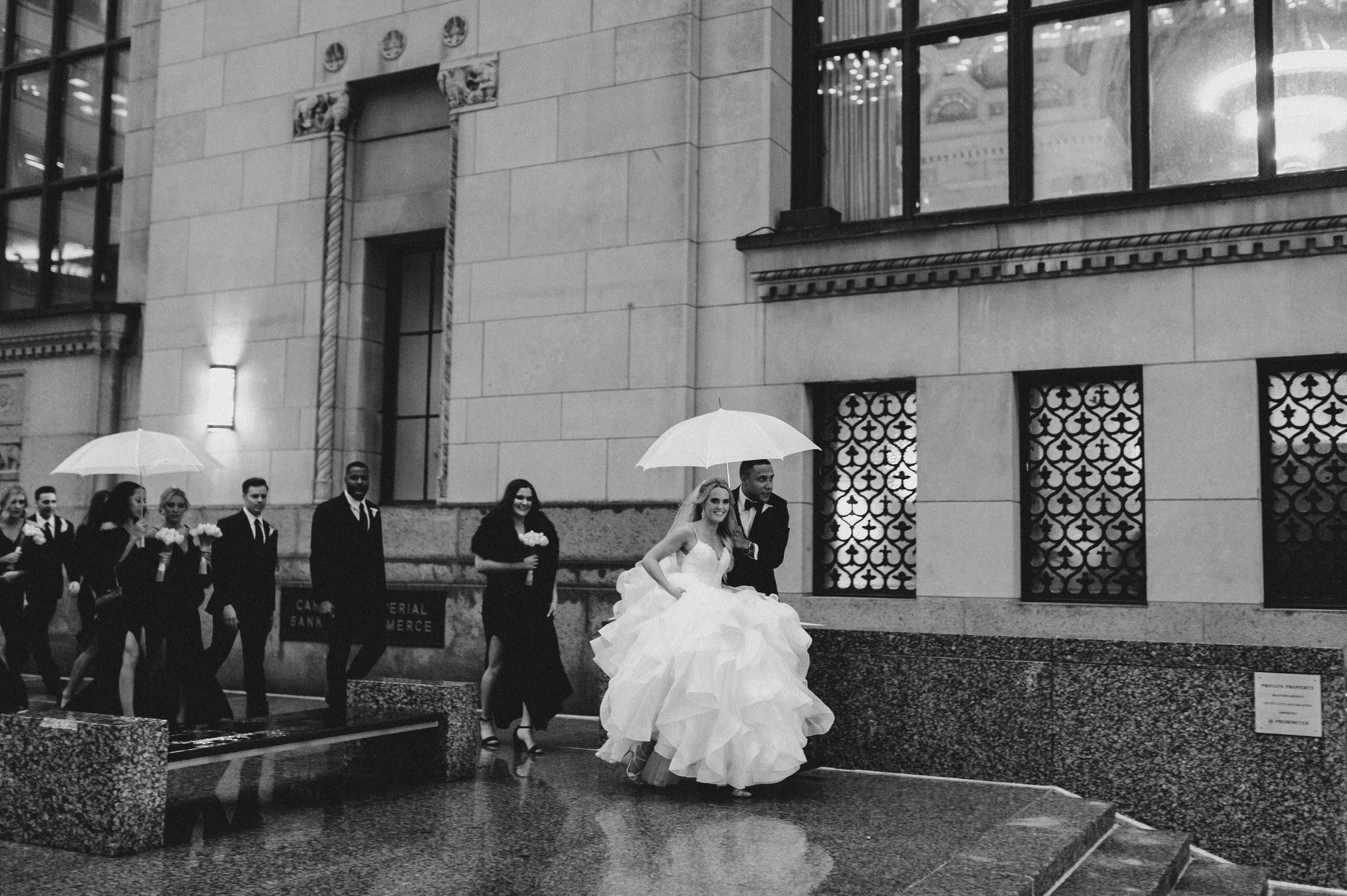 One King Toronto New Years Eve Wedding - wedding rain