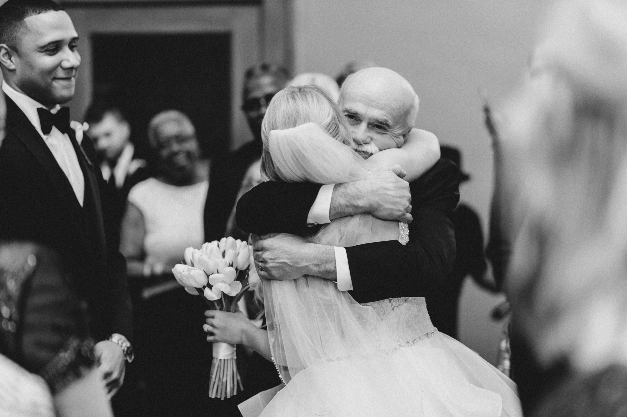 One King Toronto New Years Eve Wedding - father hugging bride