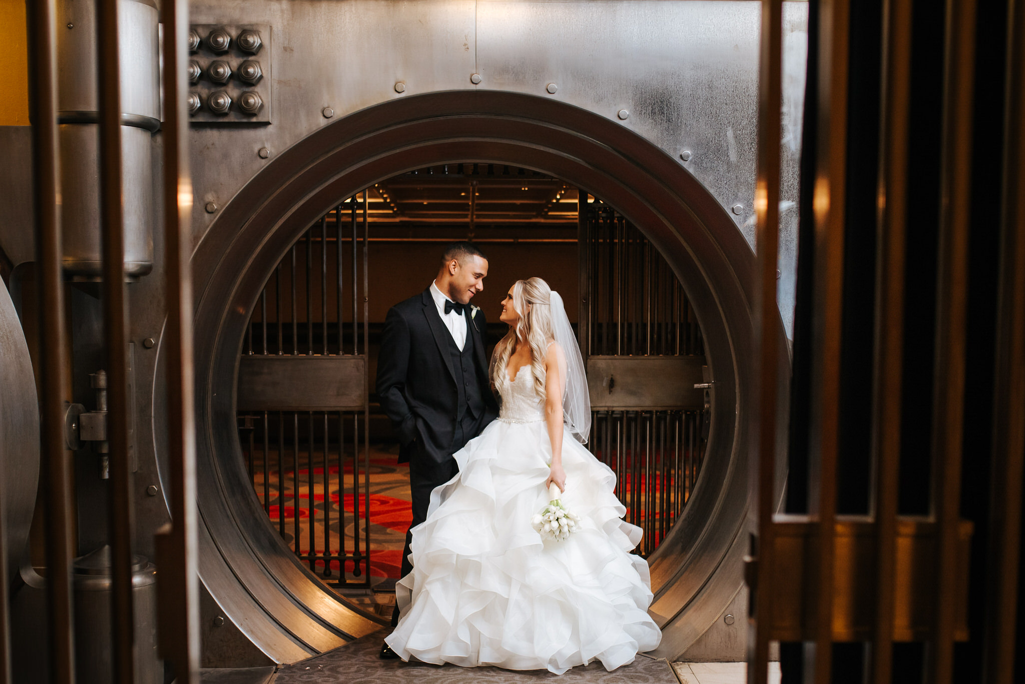 One King Toronto New Years Eve Wedding - portrait in the vault