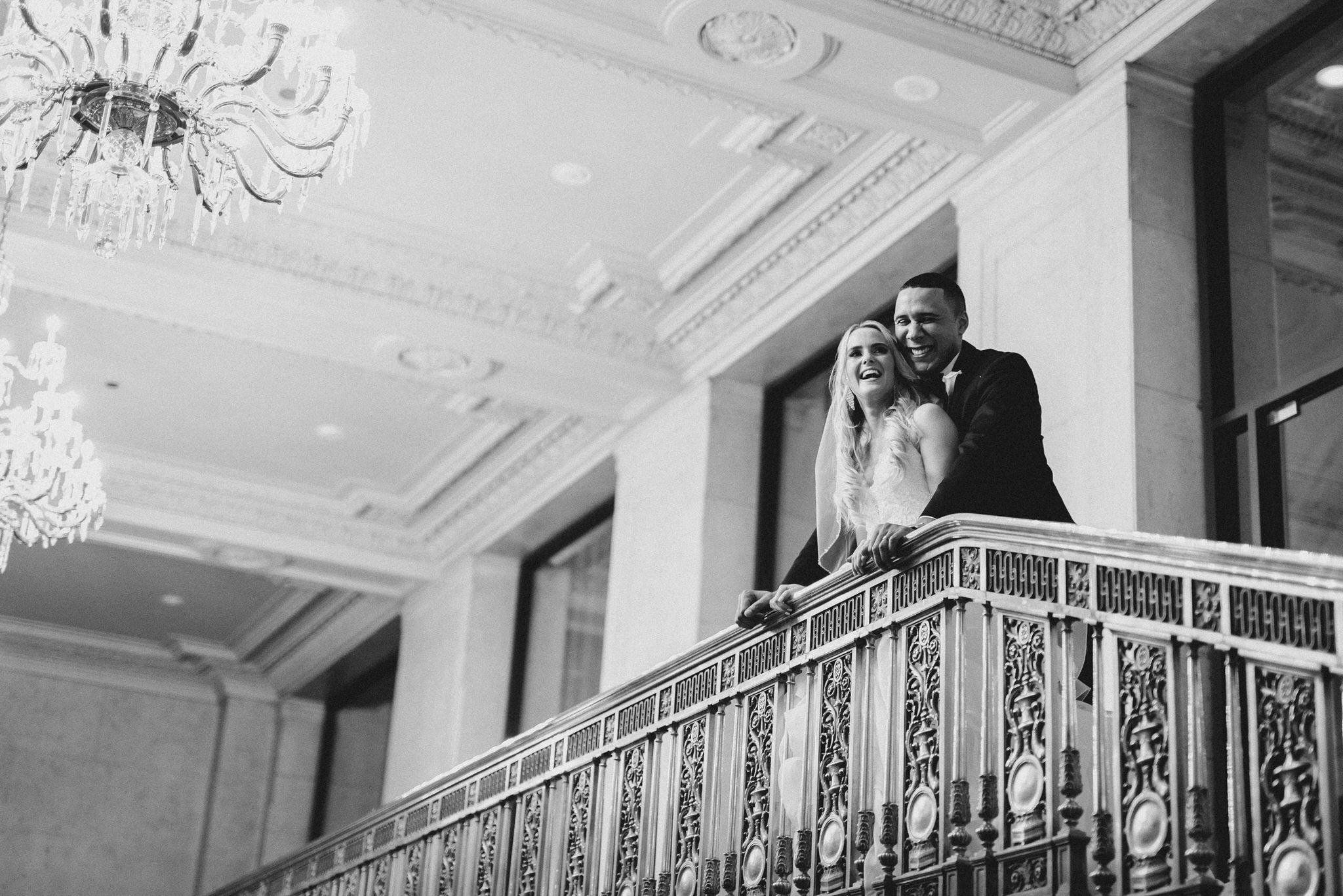 One King Toronto New Years Eve Wedding - portrait on the balcony