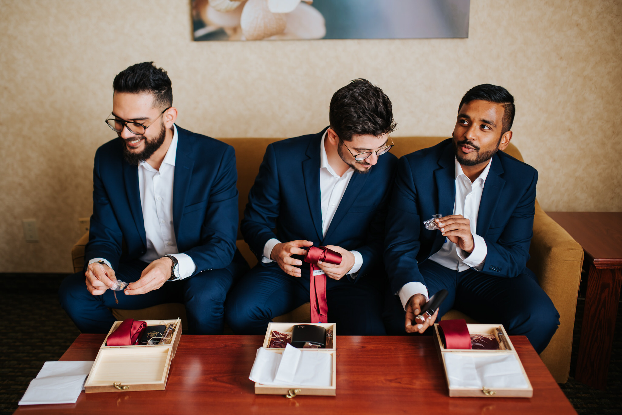 Waterstone Estate & Farms Wedding - groomsmen gifts