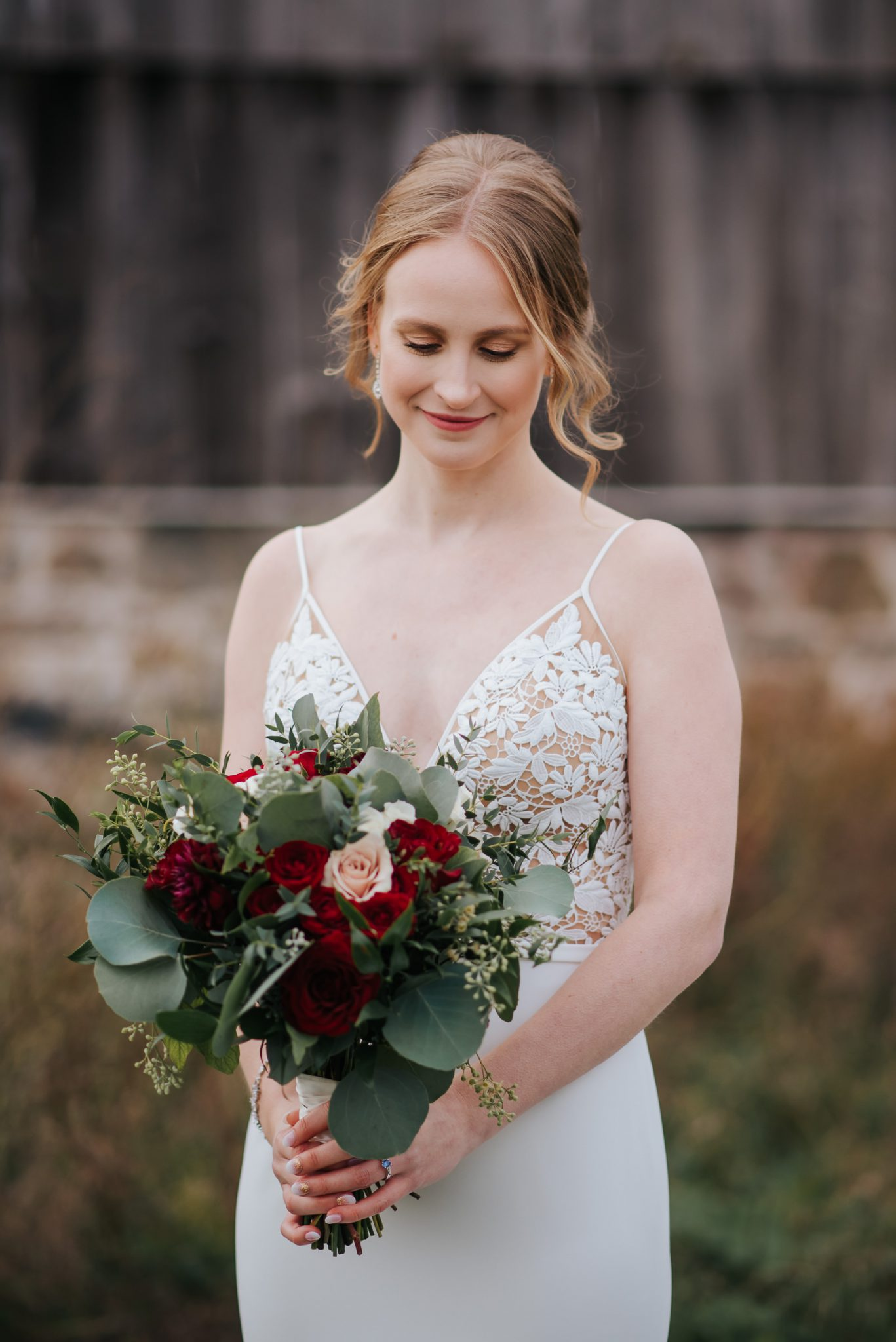 Waterstone Estate & Farms Wedding - bridal portrait