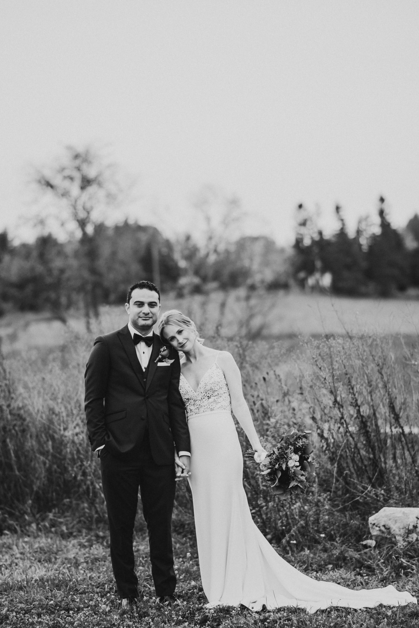 Waterstone Estate & Farms Wedding - newlywed portrait