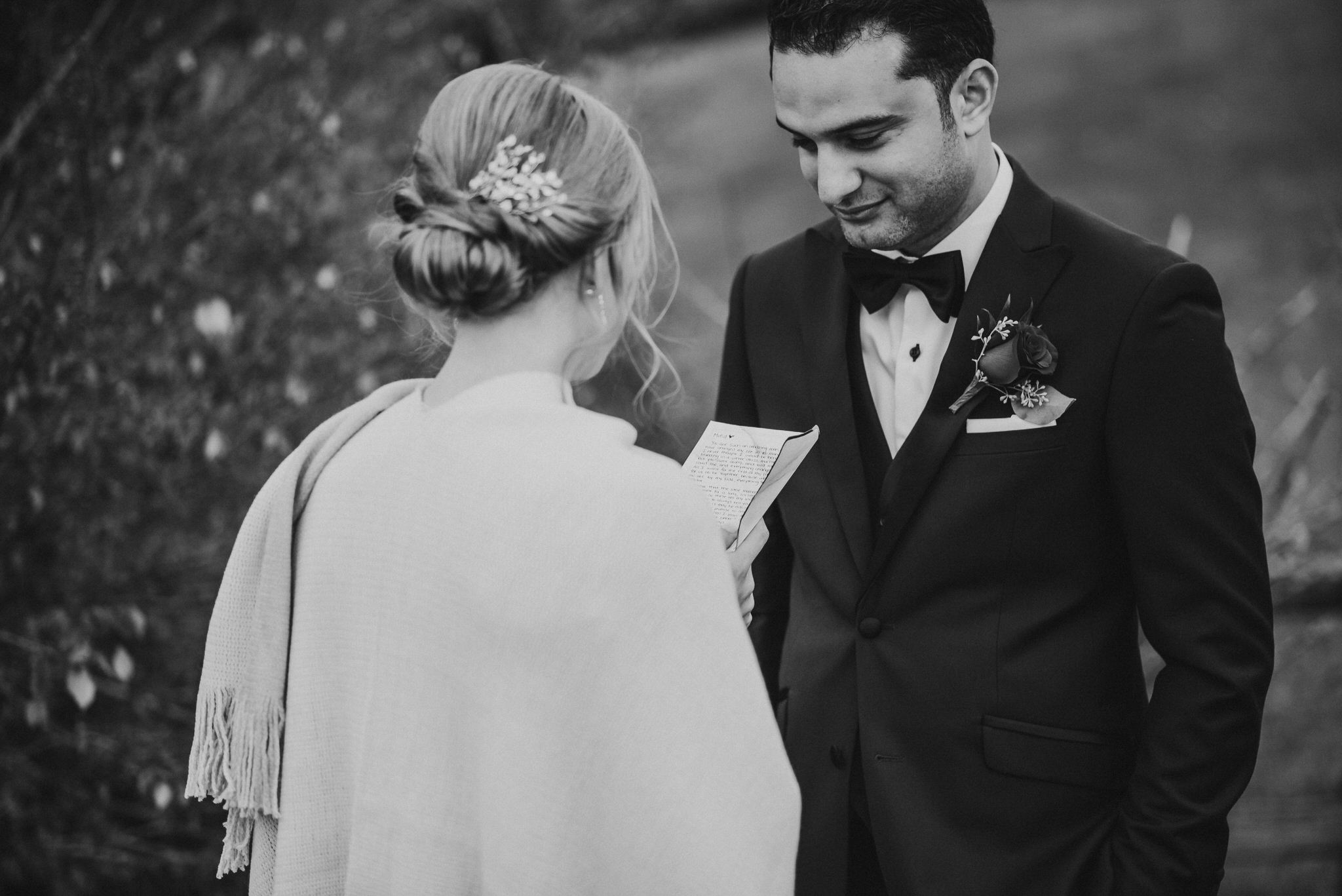 Waterstone Estate & Farms Wedding - private vows