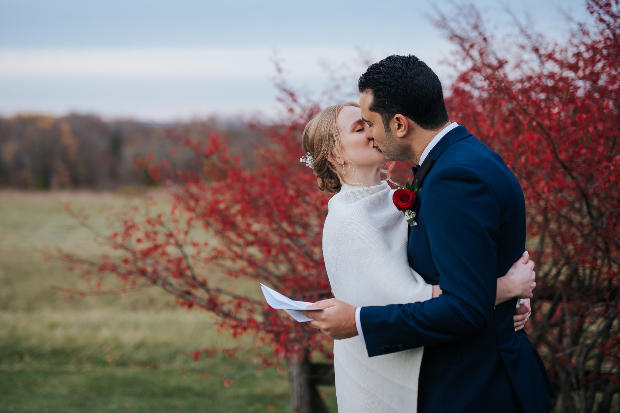 Waterstone Estate & Farms Wedding - reading vows