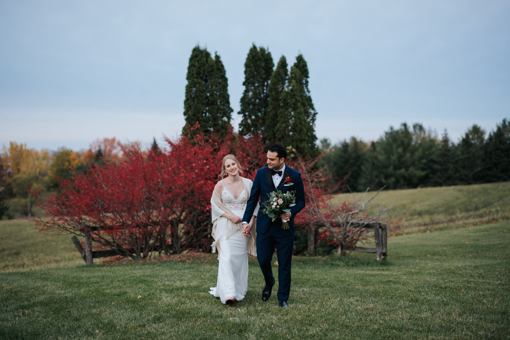 Waterstone Estate & Farms Wedding - fall colours