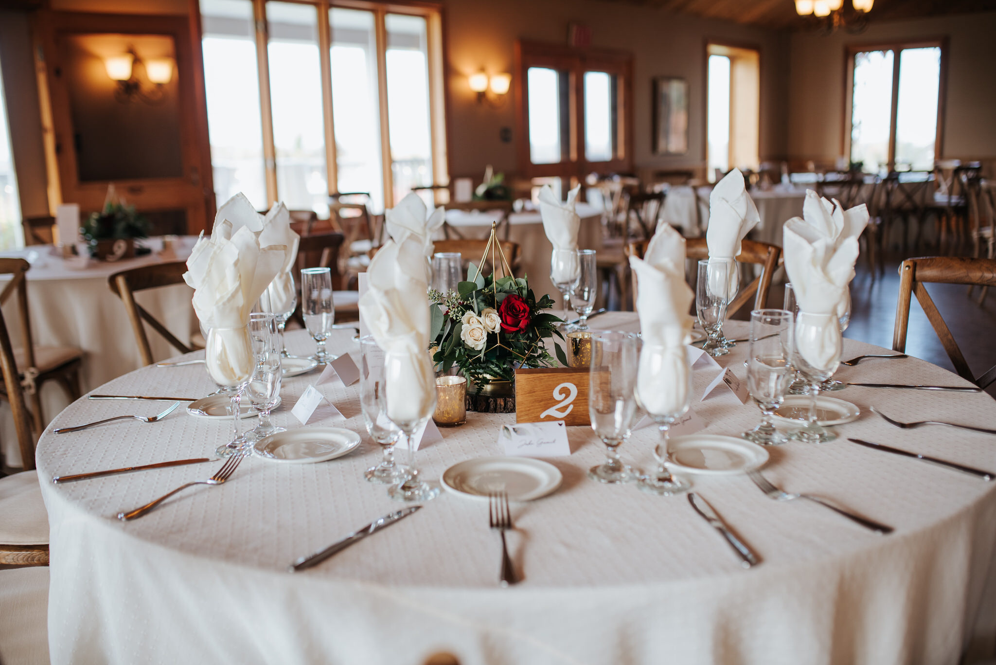 Waterstone Estate & Farms Wedding - reception decor