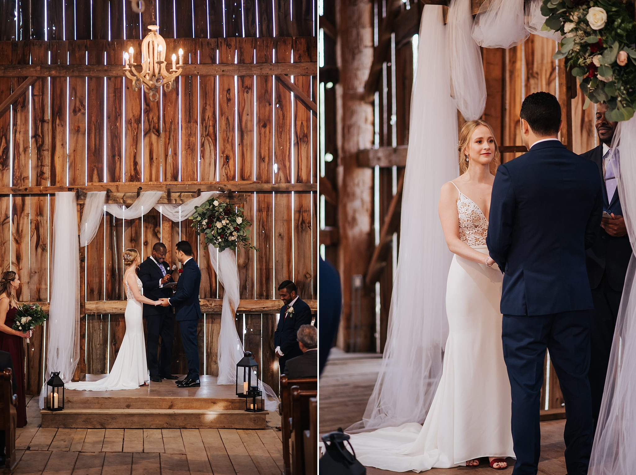Waterstone Estate & Farms Wedding - ceremony in the barn